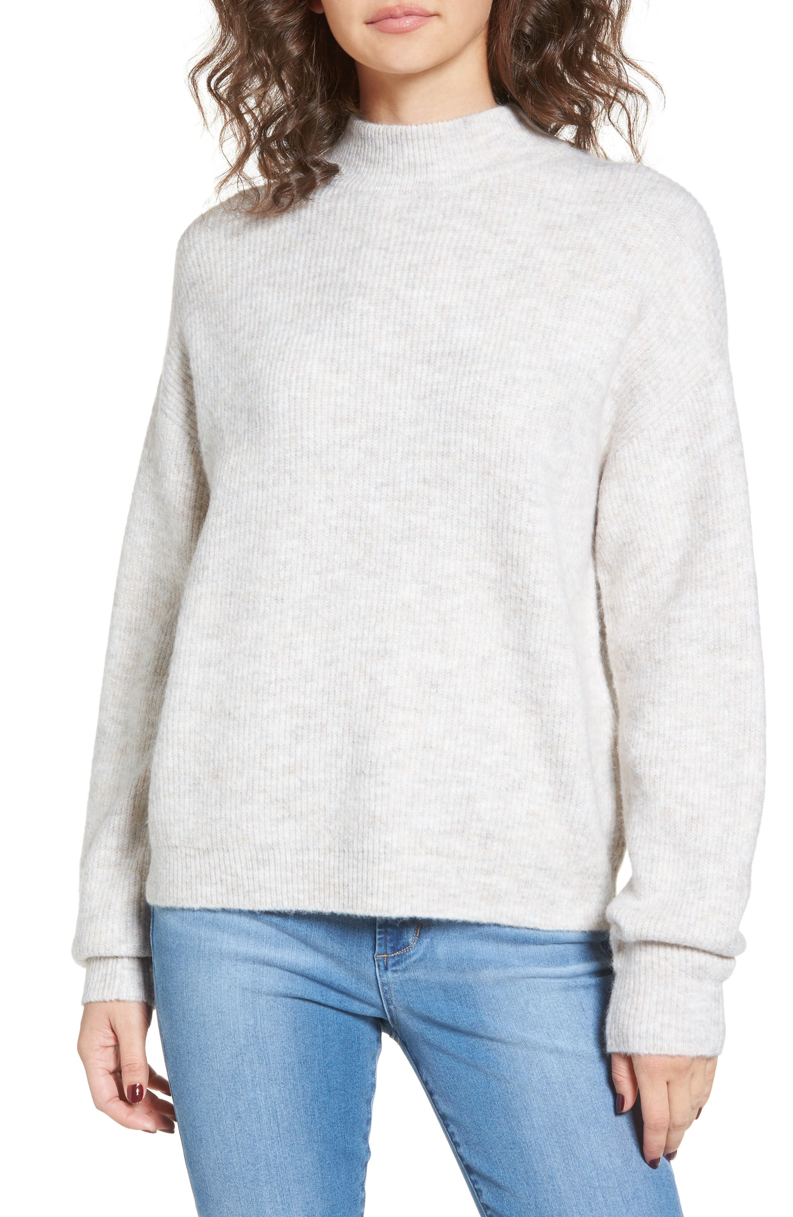 Cozy Ribbed Pullover,                         Main,                         color, Beige Oatmeal Hthr