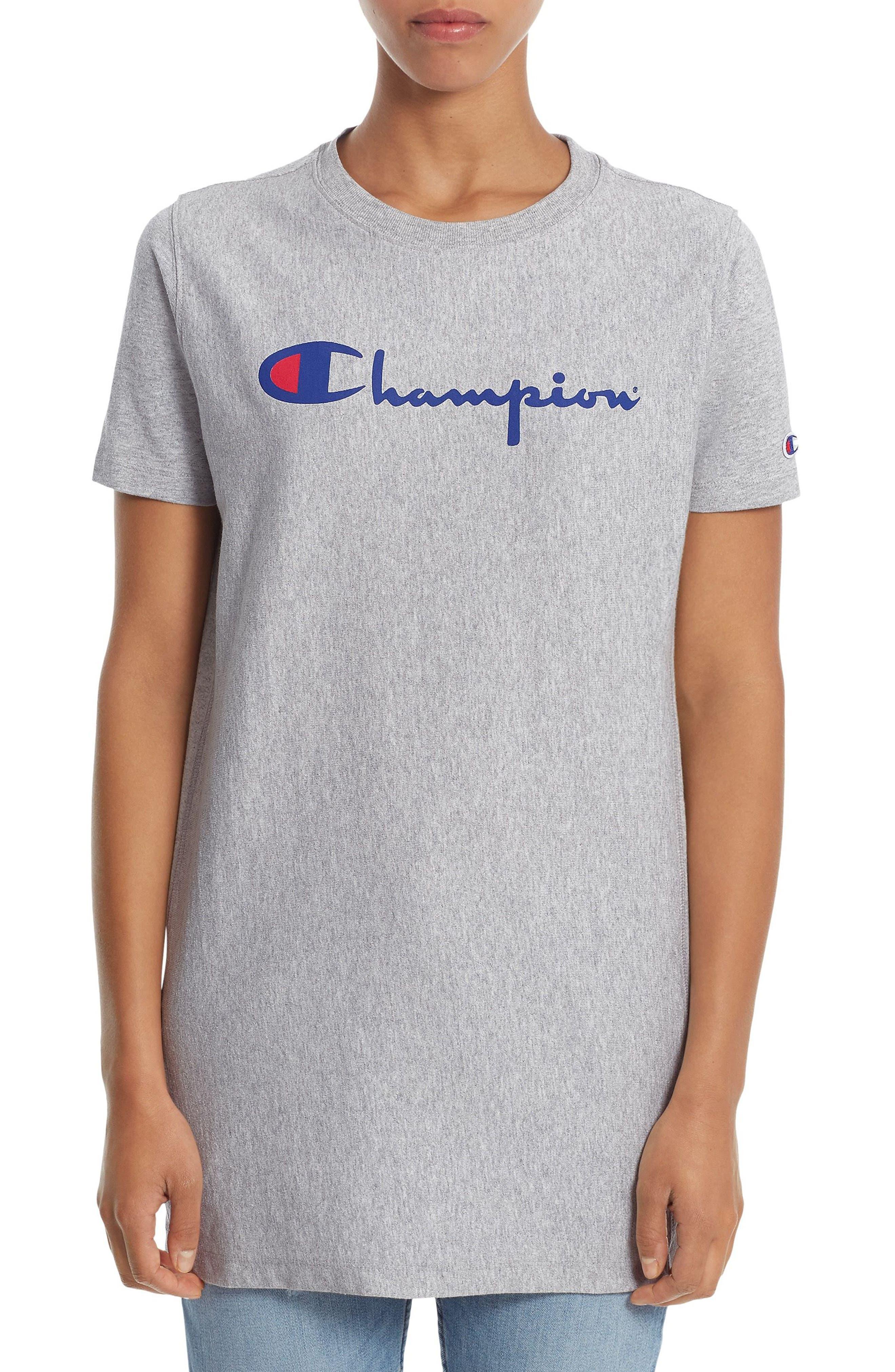 Main Image - Champion Logo Print Longline Tee