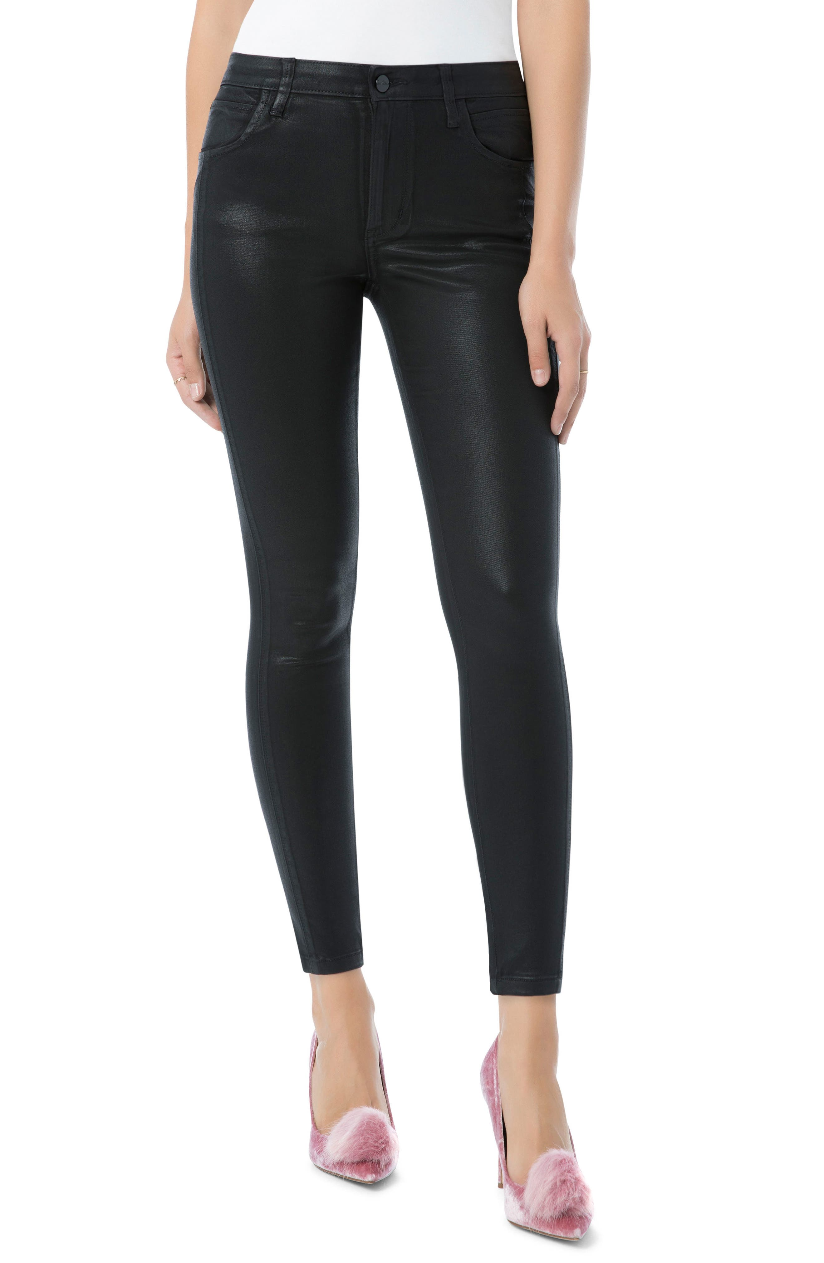 The Stiletto High Rise Ankle Jean,                             Main thumbnail 1, color,                             Black