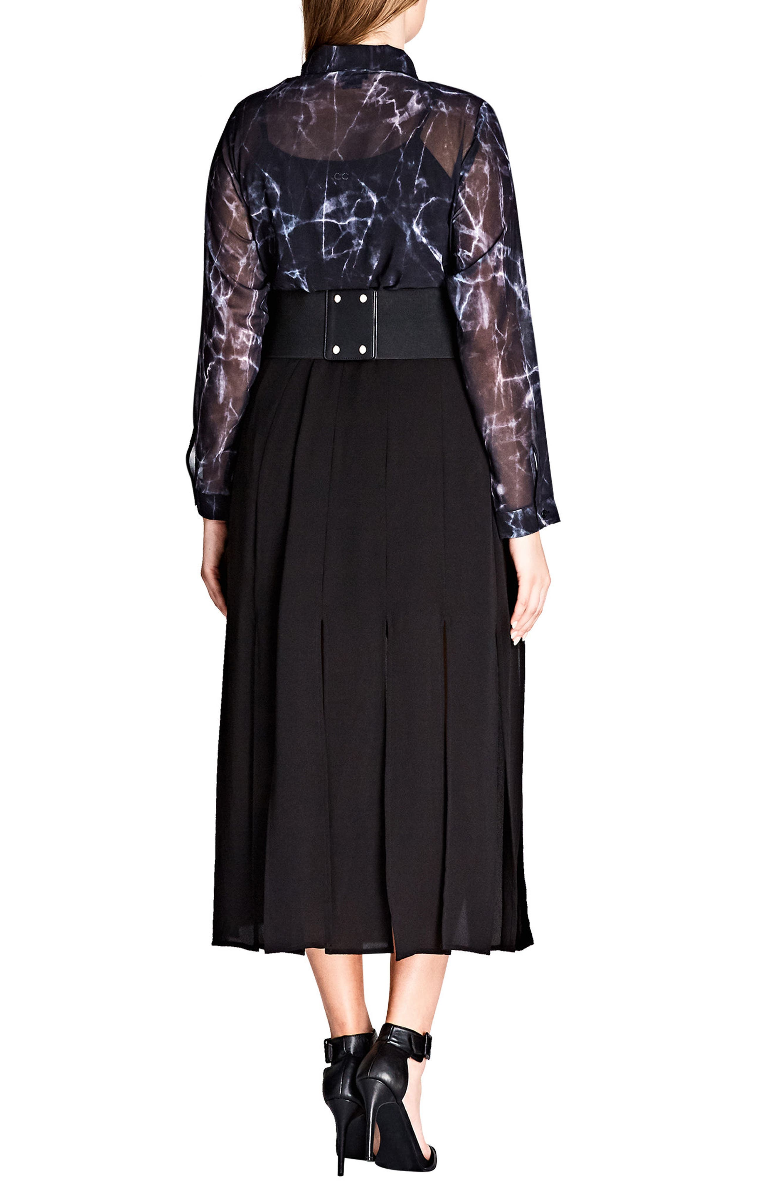 Stuck on You Pleated Maxi Skirt,                             Alternate thumbnail 2, color,                             Black
