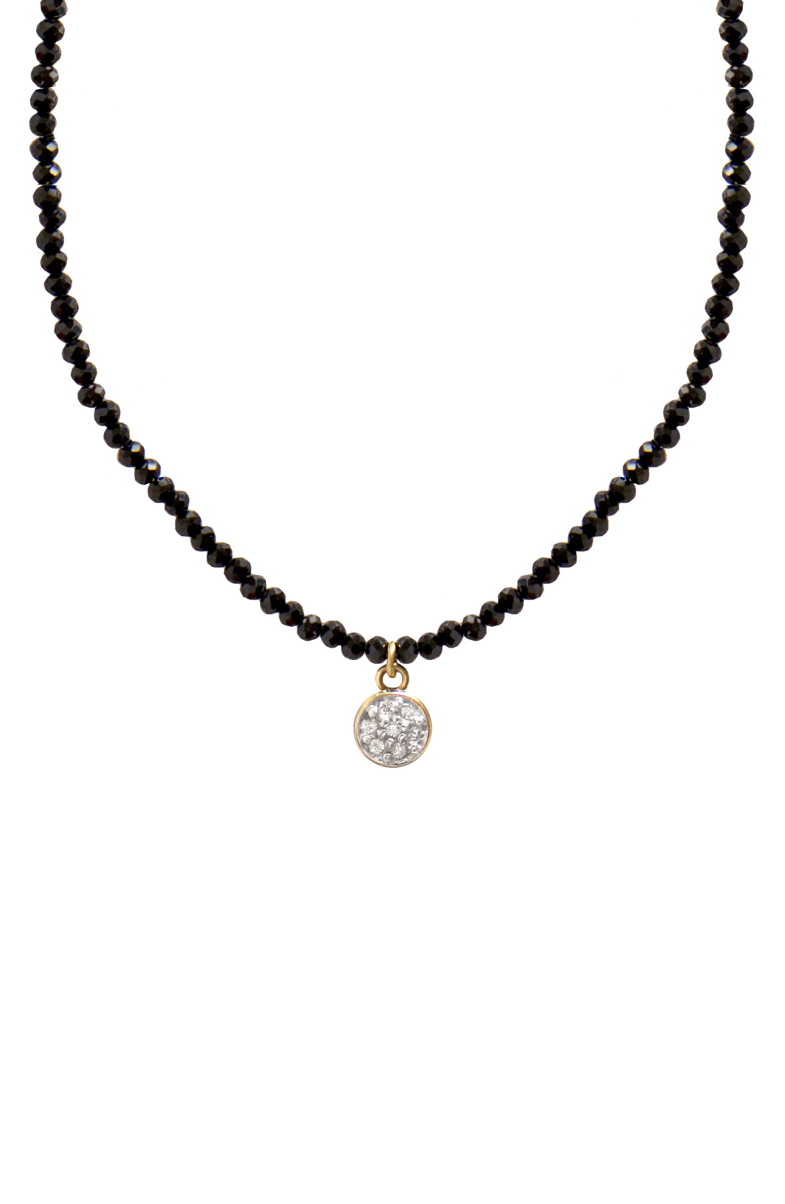 Main Image - Jane Basch Diamond Circle Pendant Necklace