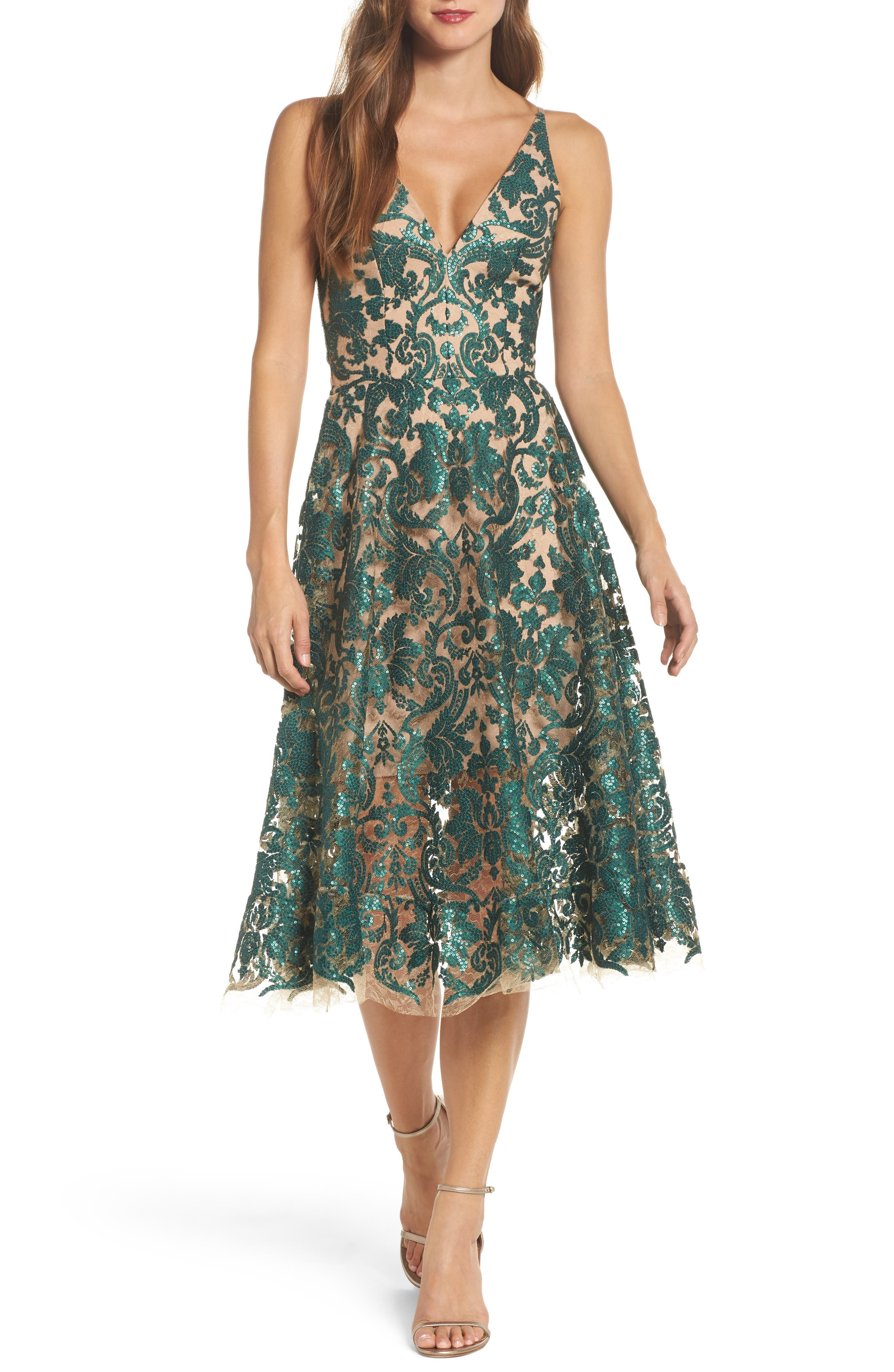 Alternate Image 1 Selected - Dress the Population Blair Embellished Fit & Flare Dress
