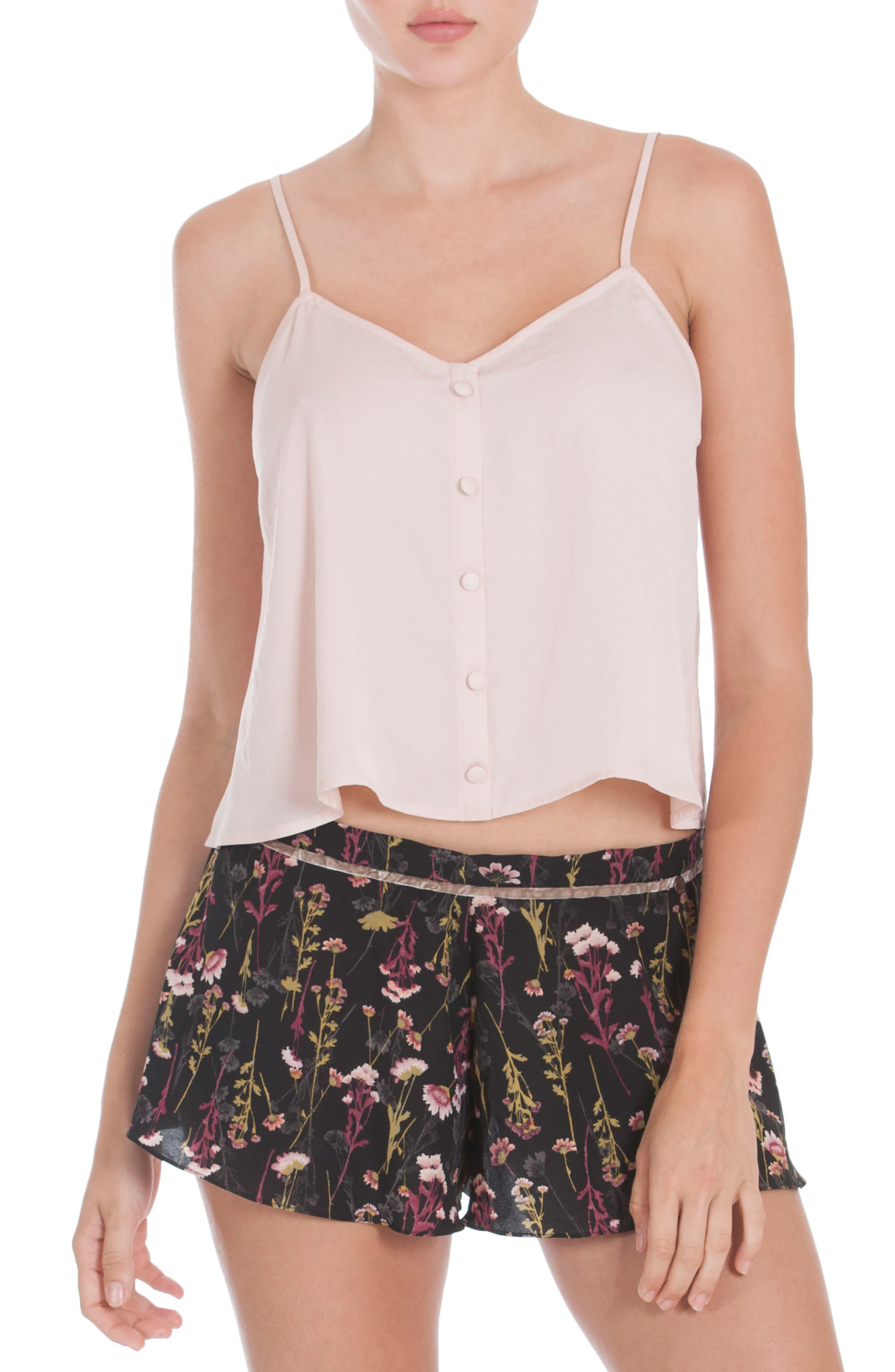Crop Camisole,                         Main,                         color, Dusty Rose