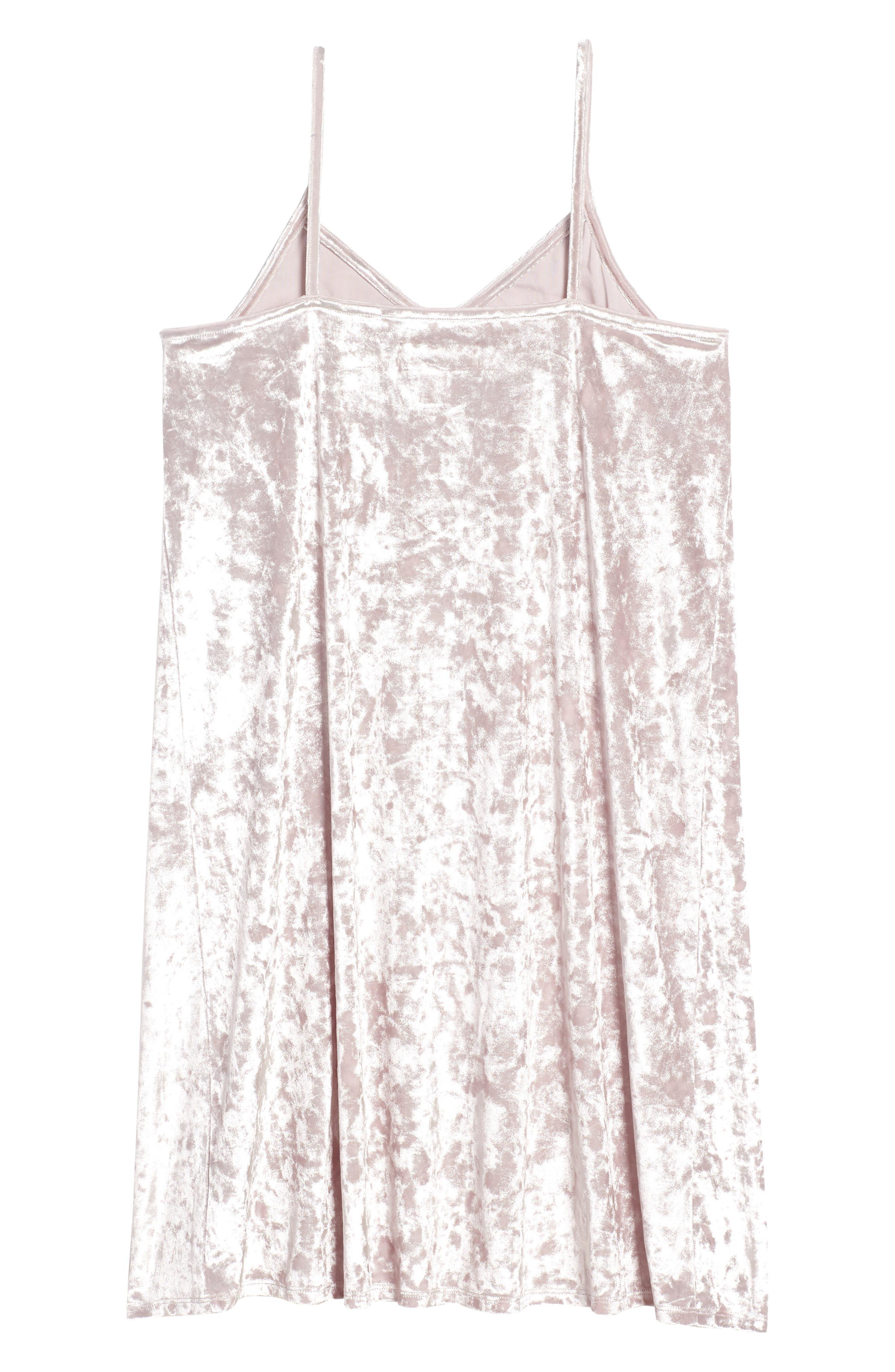Crushed Velvet Cami Dress,                             Alternate thumbnail 2, color,                             Pink Antique