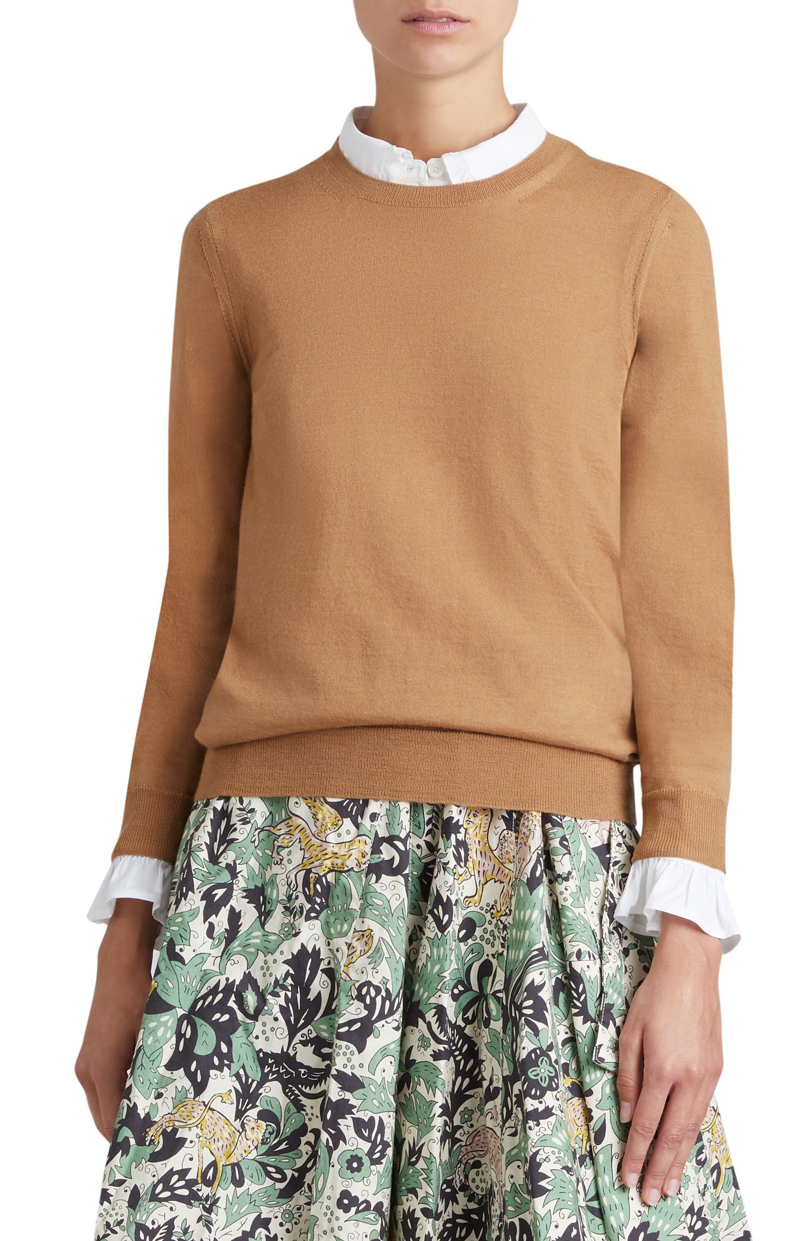 Viar Merino Wool Sweater,                         Main,                         color, Camel