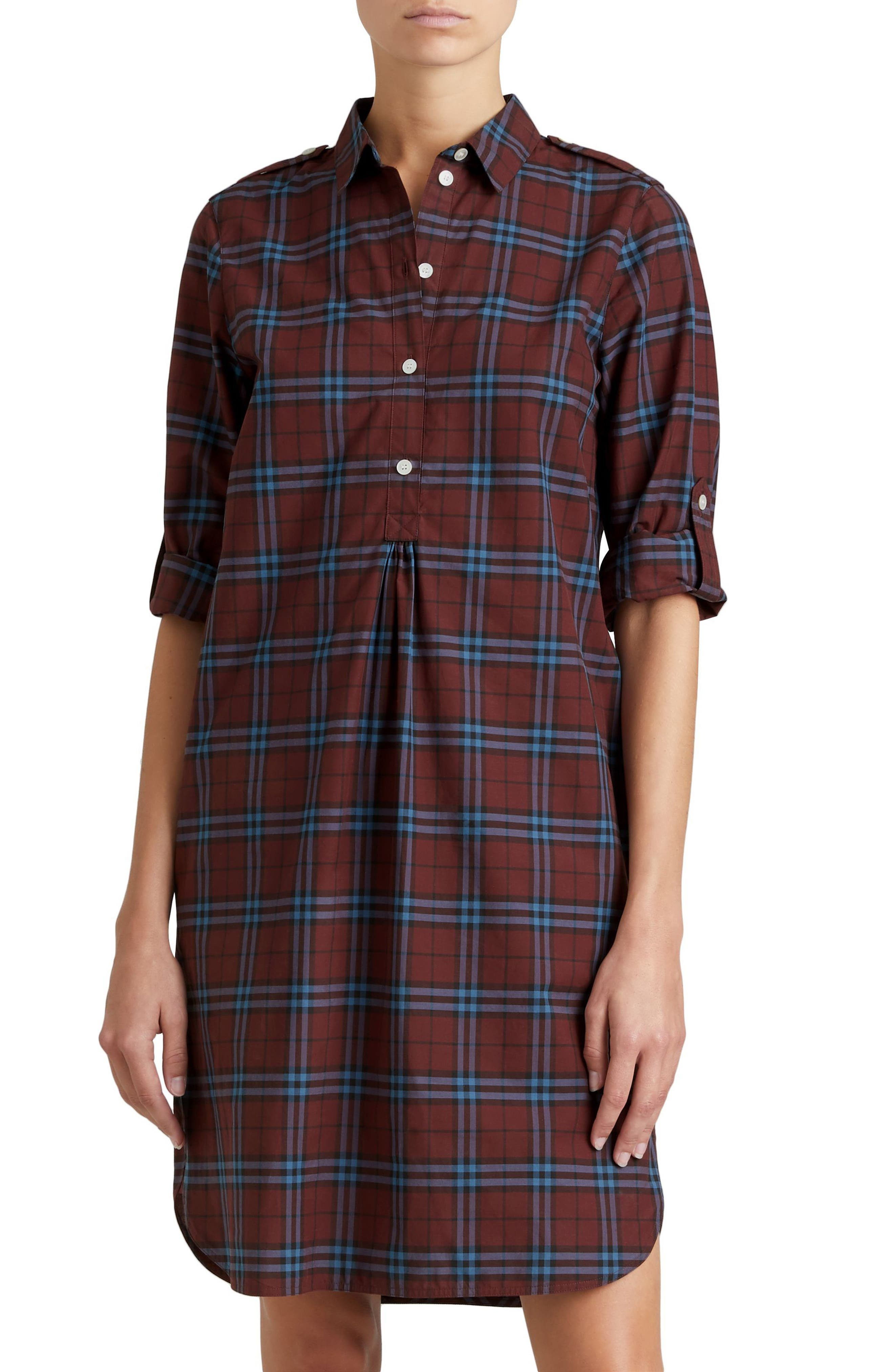 Alternate Image 5  - Burberry Kelsy Cotton Check Shirtdress