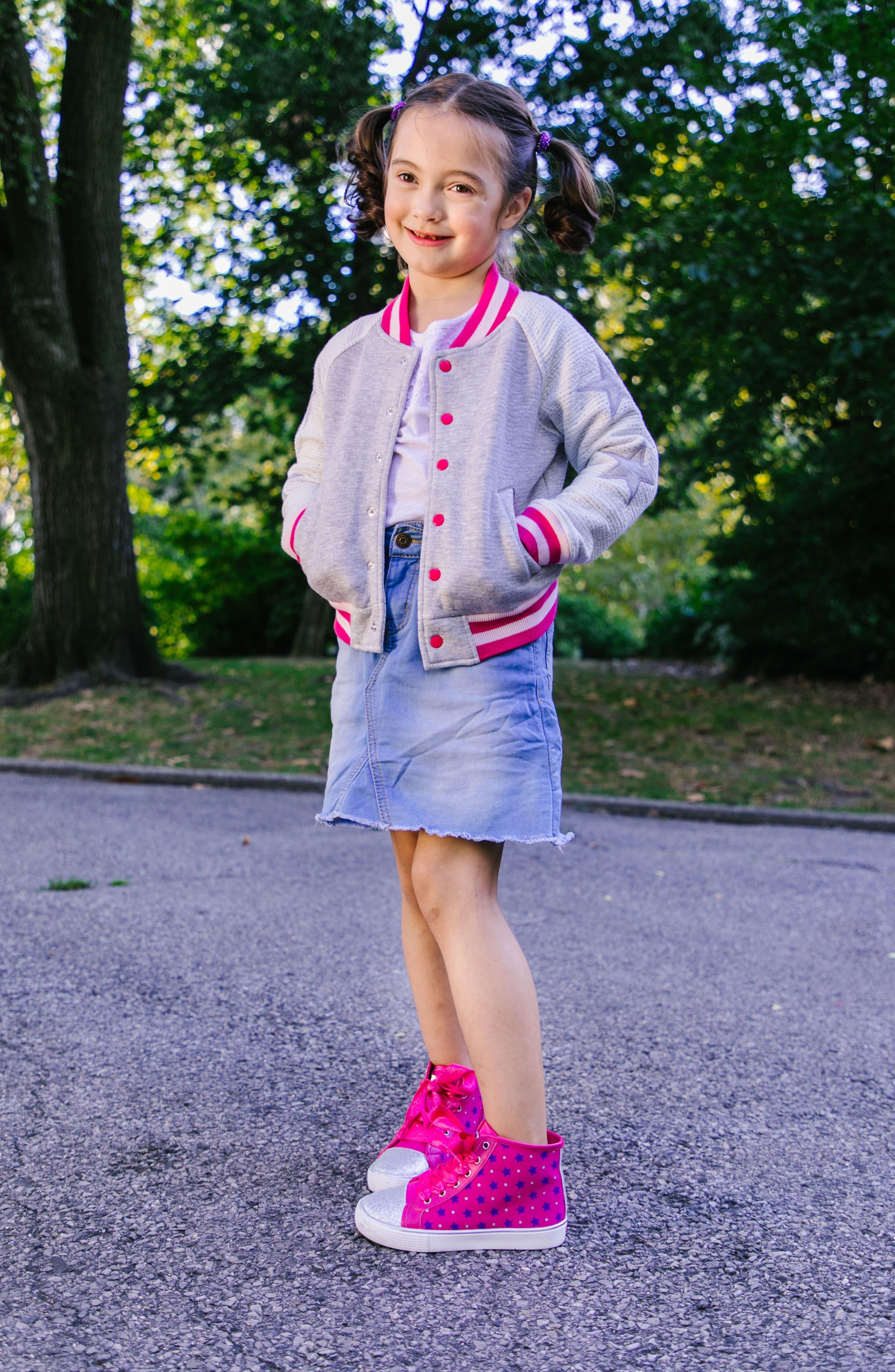 Emerson High Top Sneaker,                             Alternate thumbnail 7, color,                             Pink/ Purple