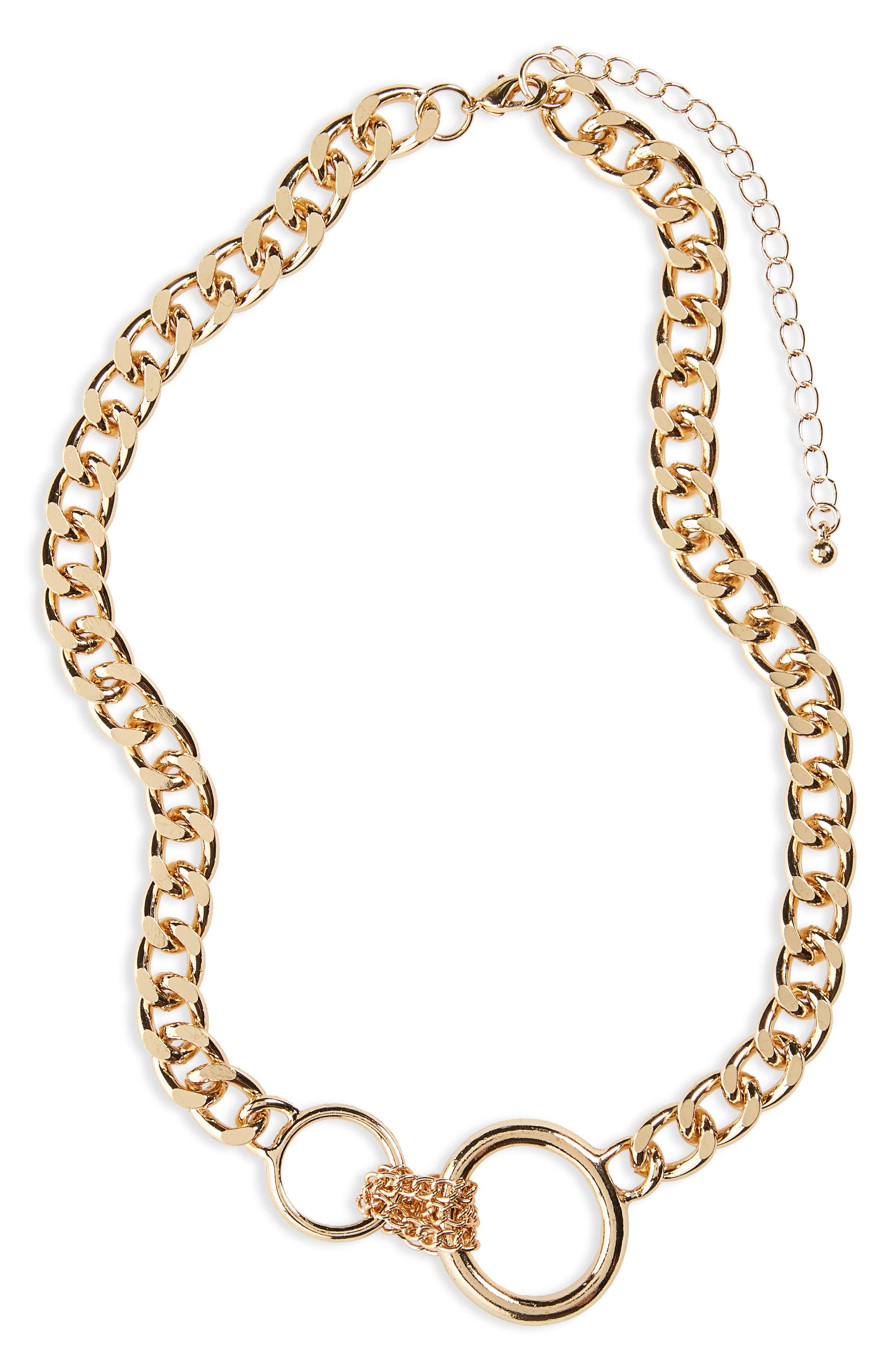 BP. Circle Charm Chain Necklace