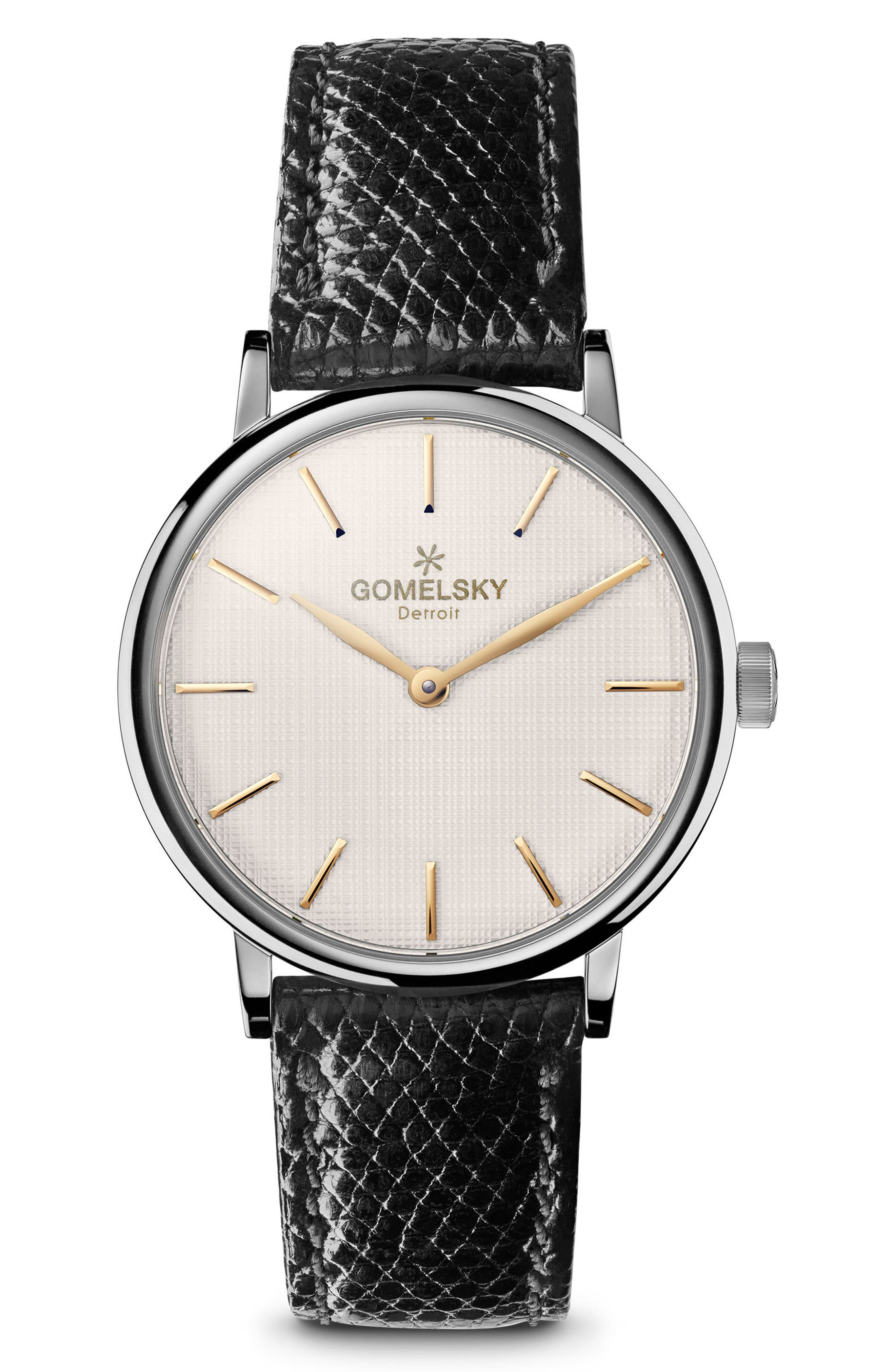 Alternate Image 1 Selected - Gomelsky The Agnes Varis Lizard Strap Watch, 32mm