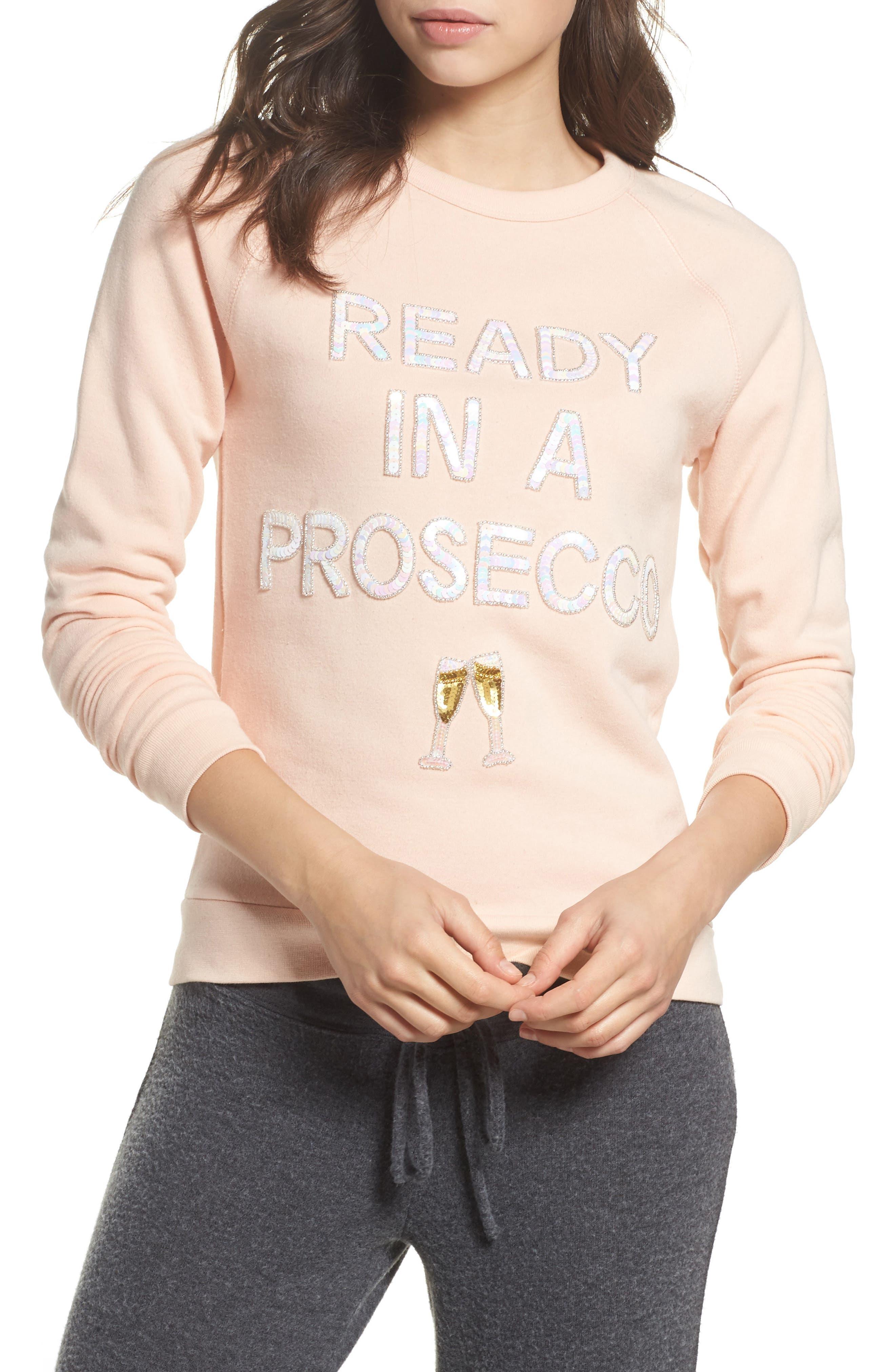 Ready in a Prosecco Sweatshirt,                             Main thumbnail 1, color,                             Blush