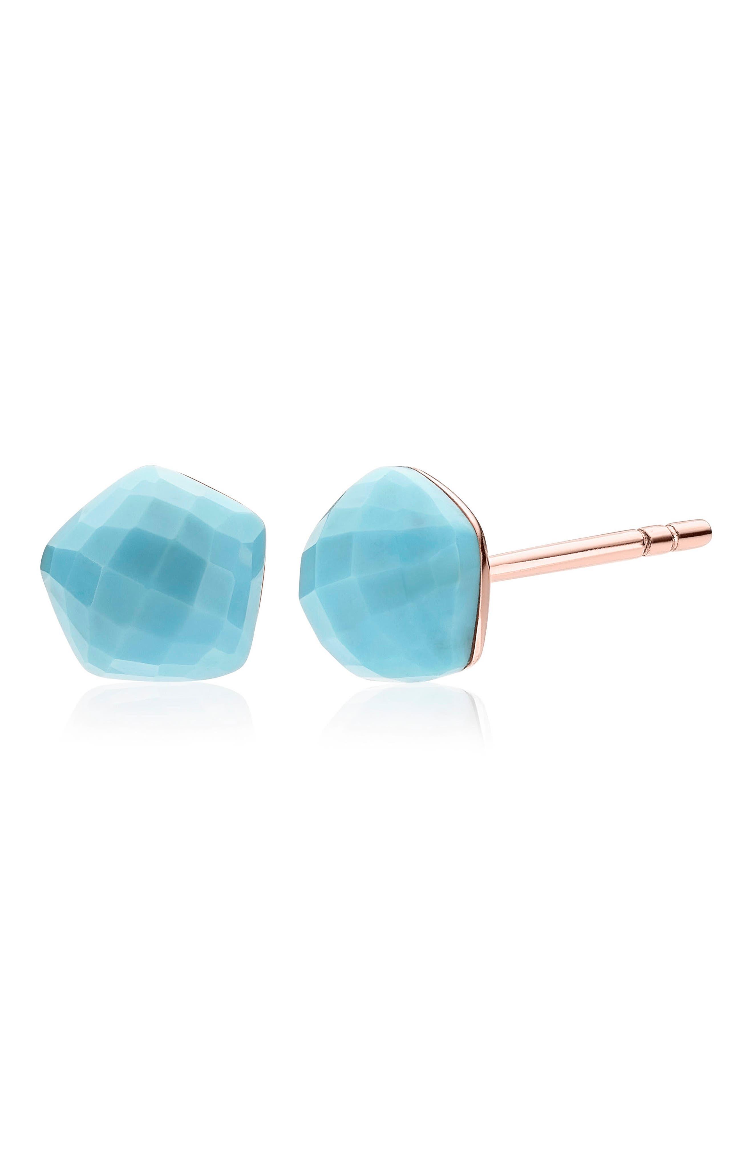 Alternate Image 3  - Monica Vinader Nura Nugget Stud Earrings
