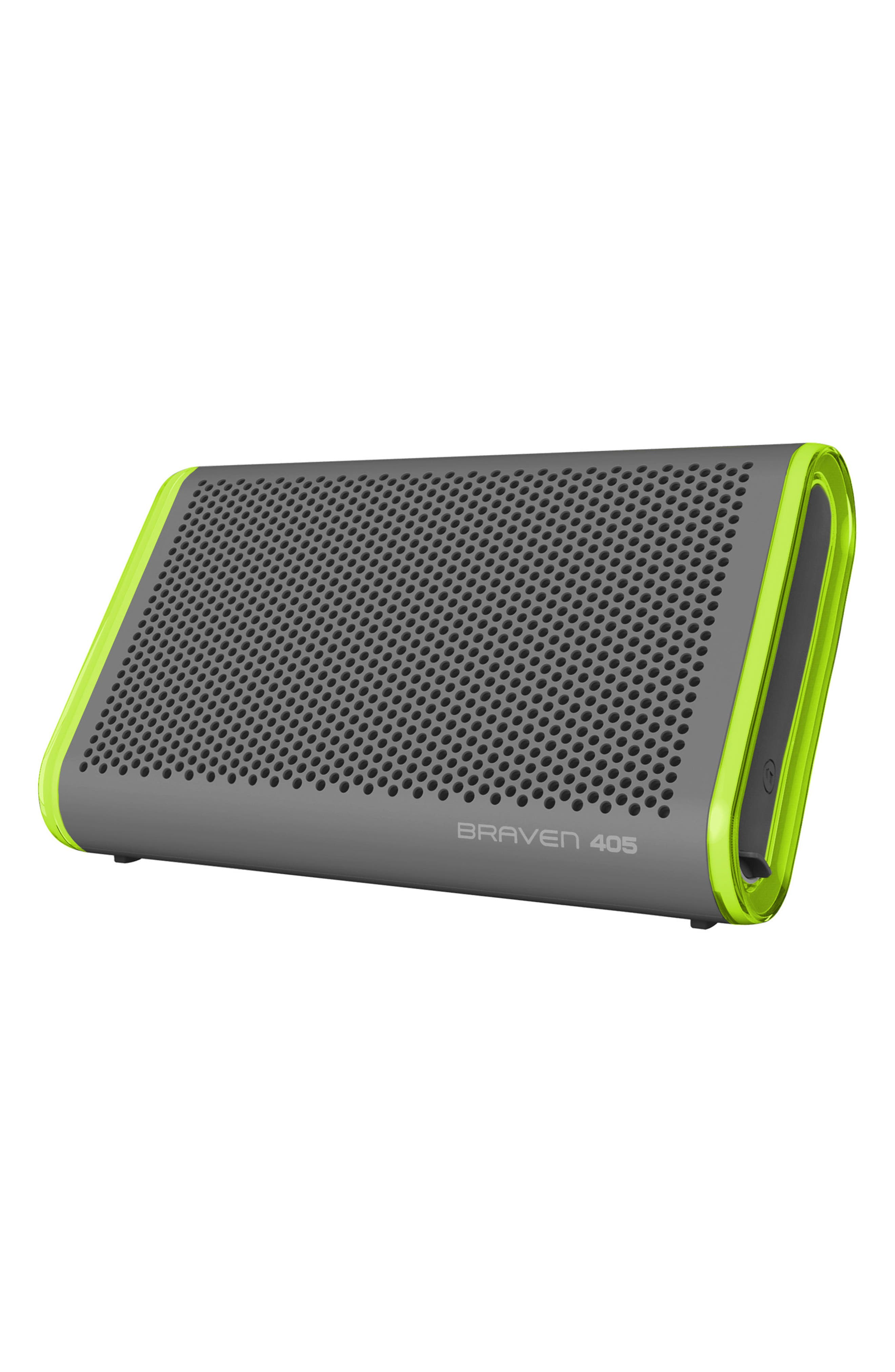 405 Portable Waterproof Bluetooth Speaker,                             Alternate thumbnail 6, color,                             Silver/ Green