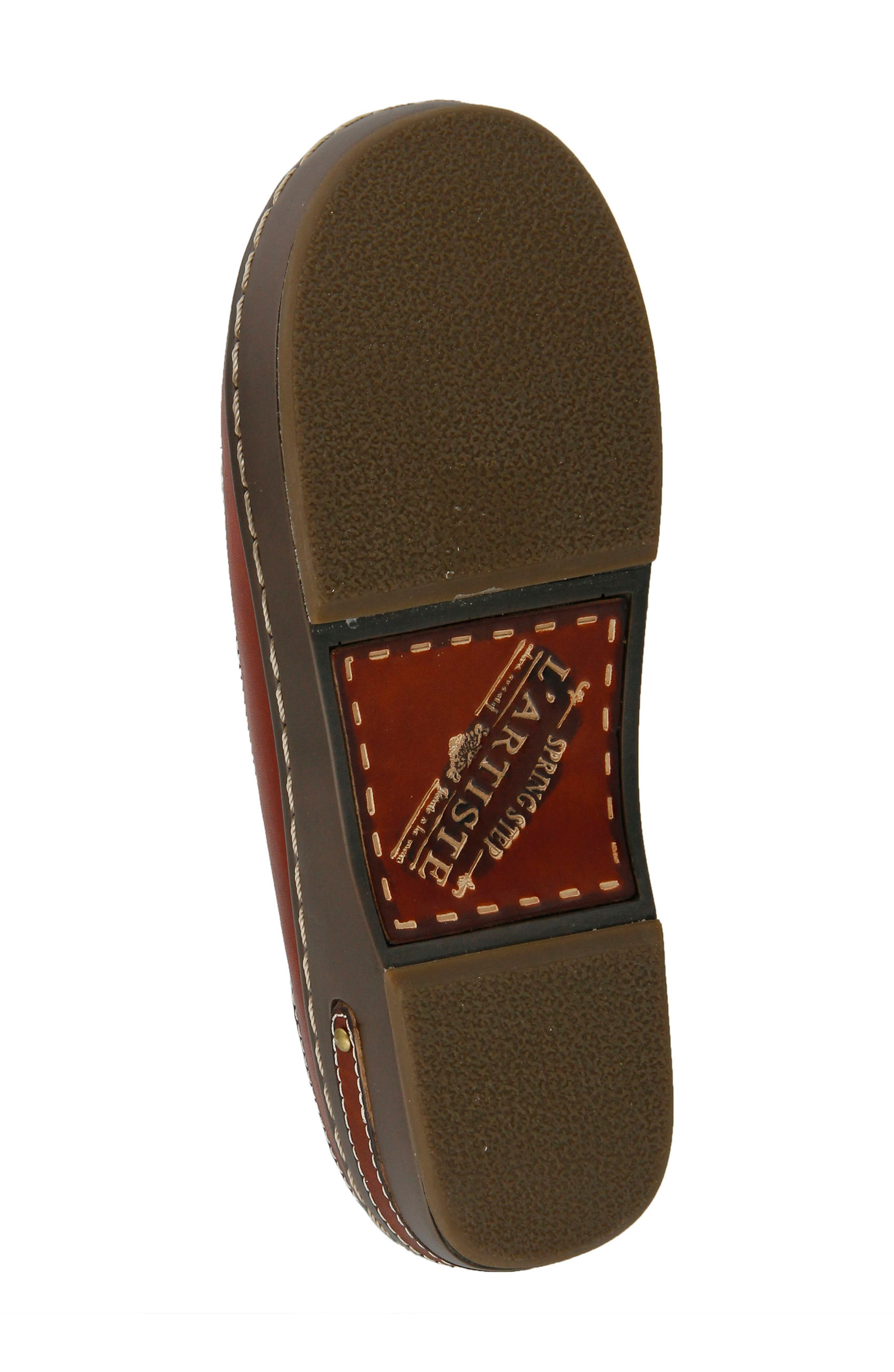 L'Artiste Chino Clog,                             Alternate thumbnail 6, color,                             Camel Leather