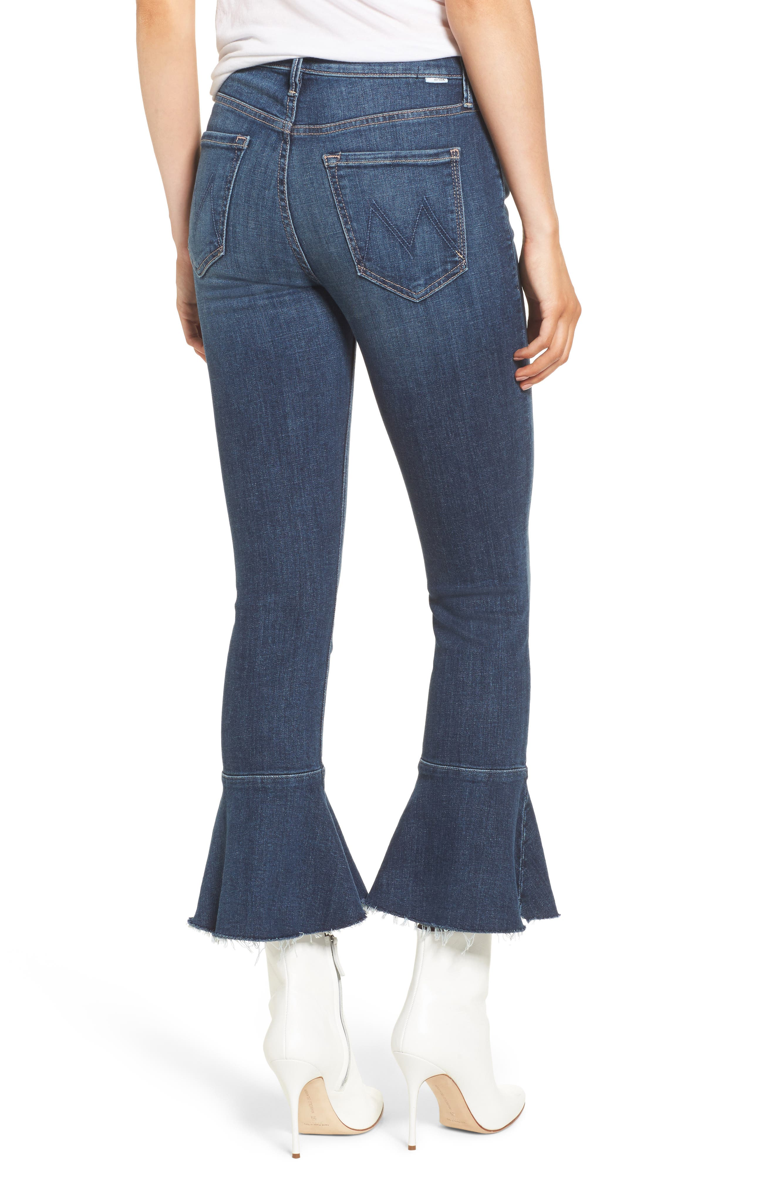 Alternate Image 2  - MOTHER The Cha Cha Fray Flare Crop Jeans (Girl Crush)