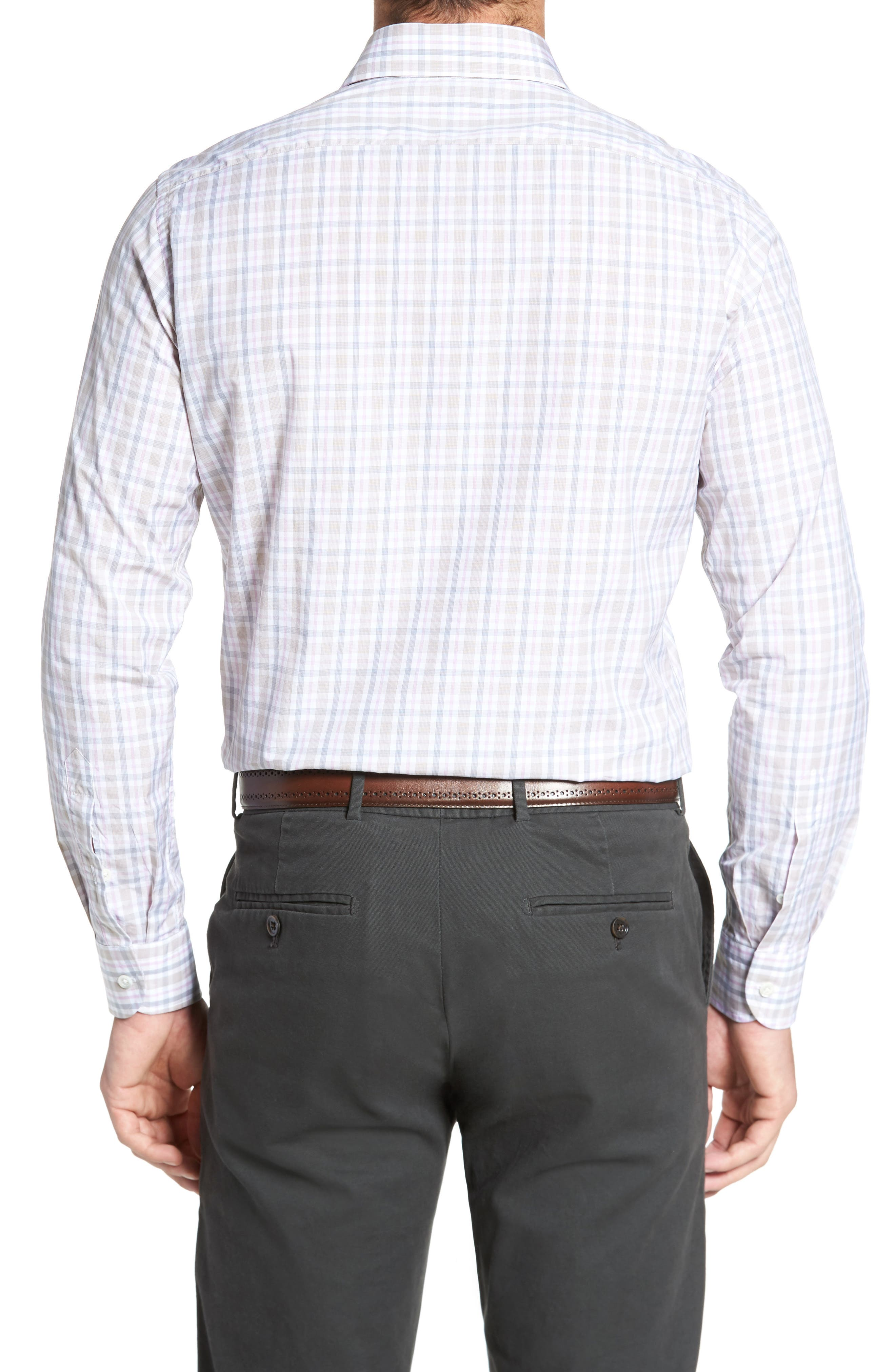 Classic Fit Check Sport Shirt,                             Alternate thumbnail 2, color,                             Tan