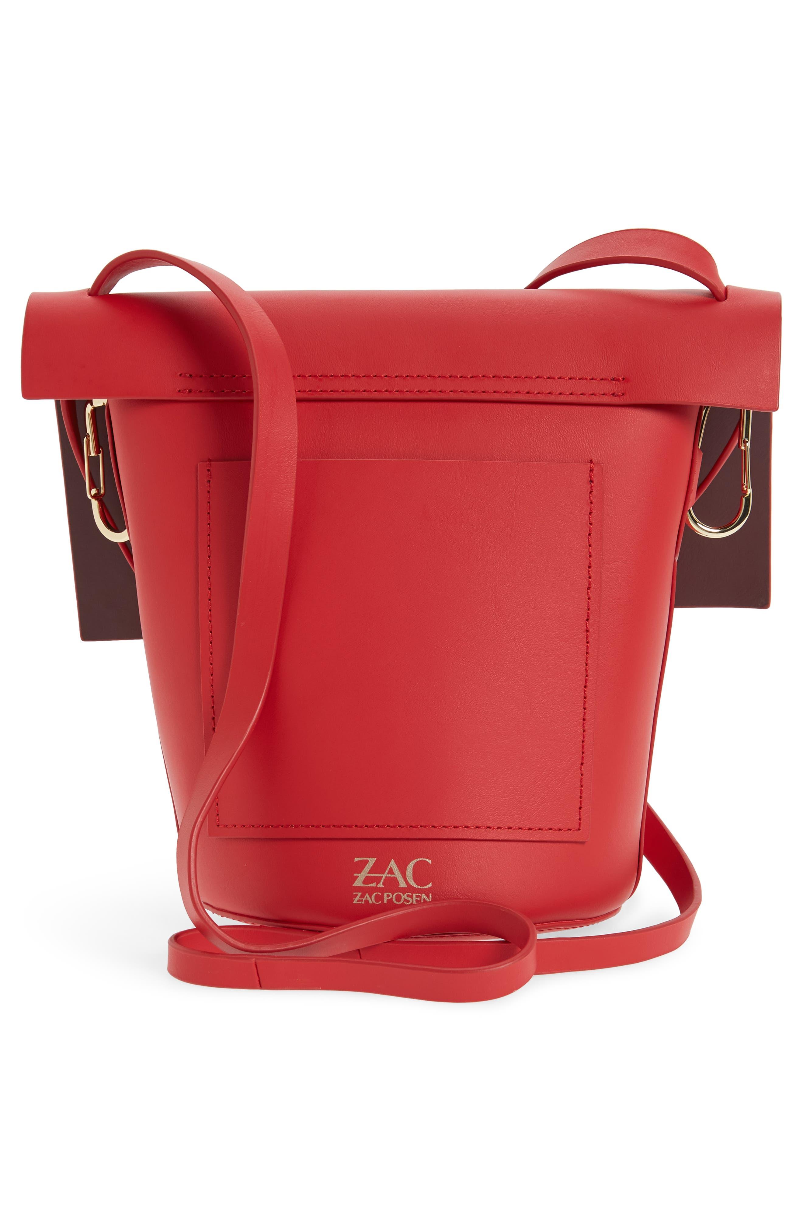 Alternate Image 7  - ZAC Zac Posen Belay Leather Crossbody Bucket Bag