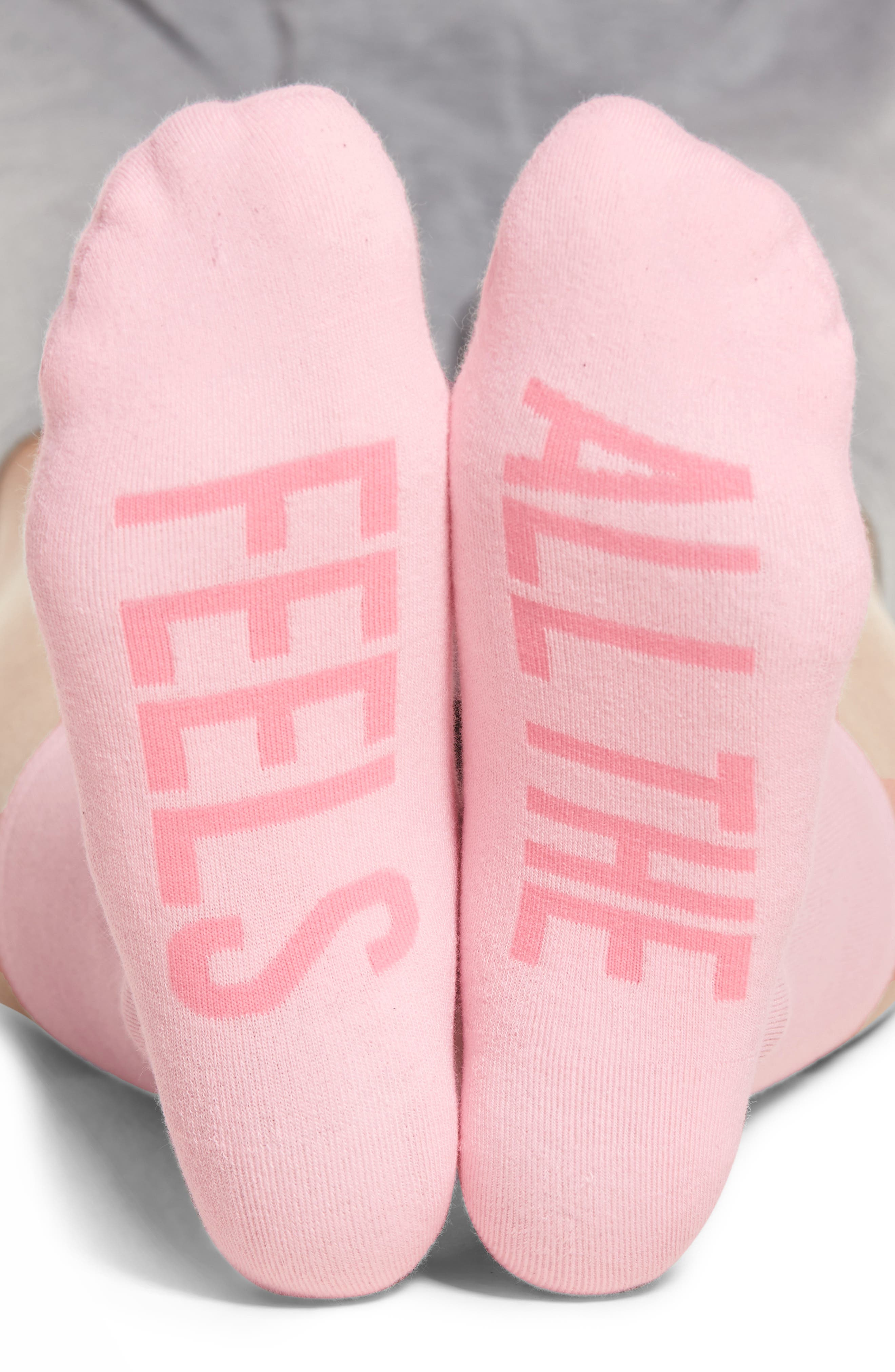 All the Feels Crew Socks,                         Main,                         color, Light Pink