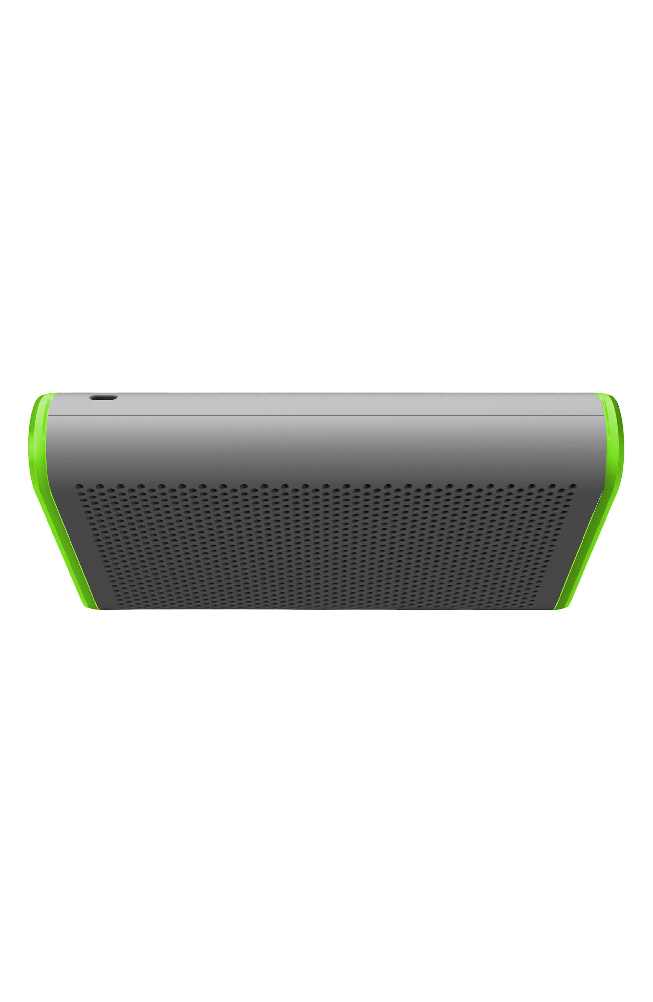 405 Portable Waterproof Bluetooth Speaker,                             Alternate thumbnail 5, color,                             Silver/ Green