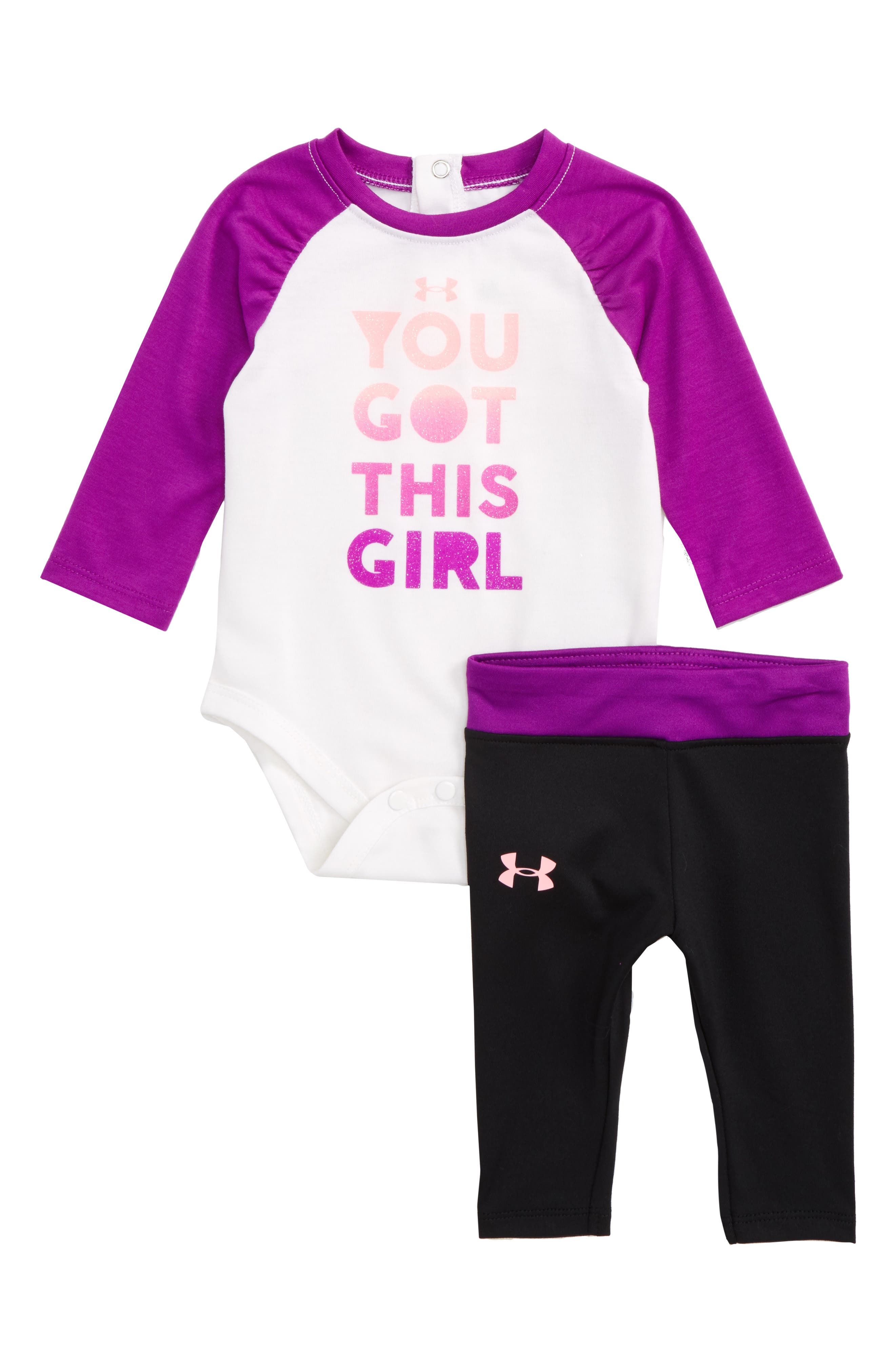 Under Armour You Got This Girl Bodysuit & Pants Set (Baby Girls)
