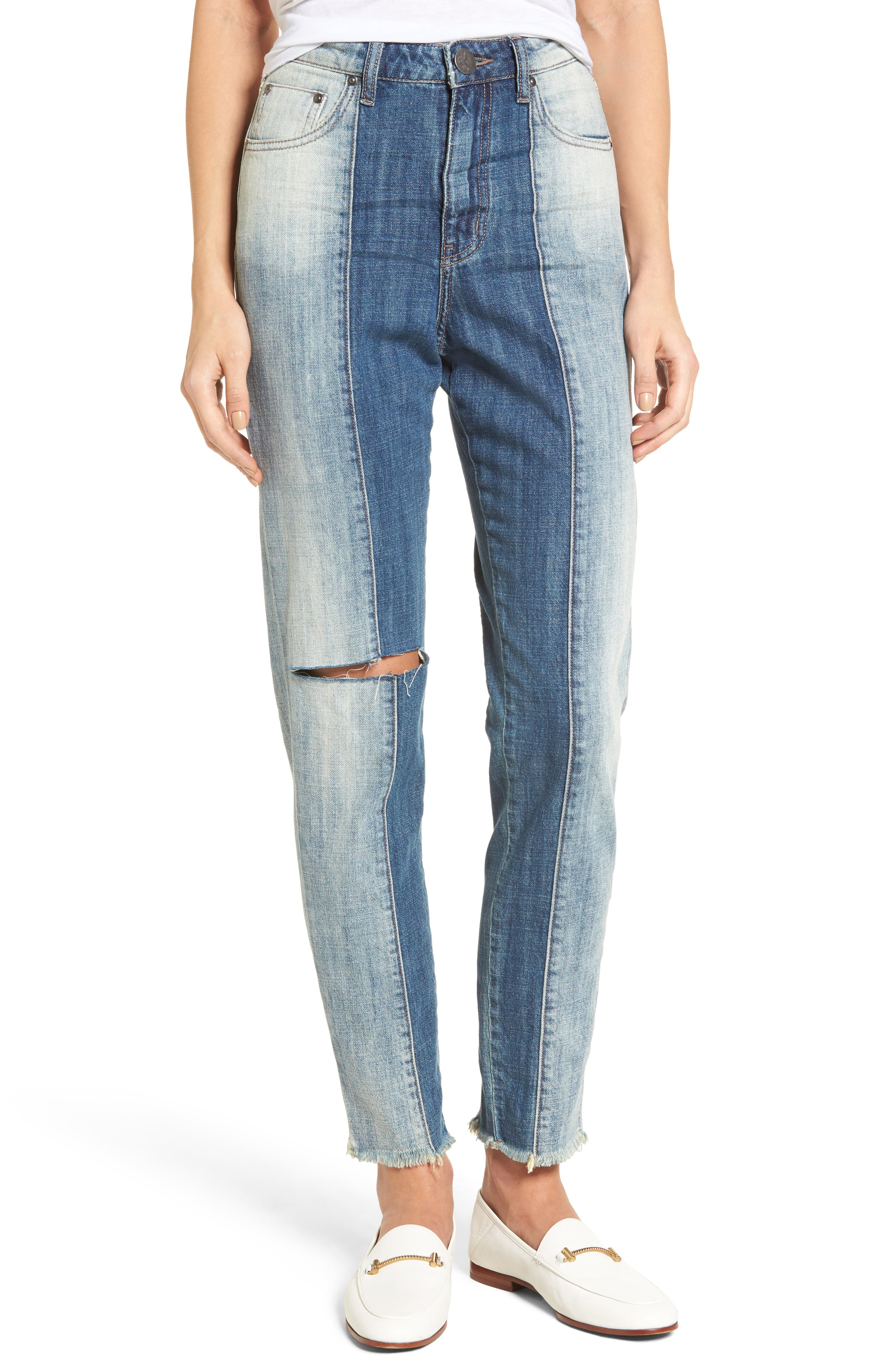 Legend High Waist Mom Jeans,                         Main,                         color, Blue Jack