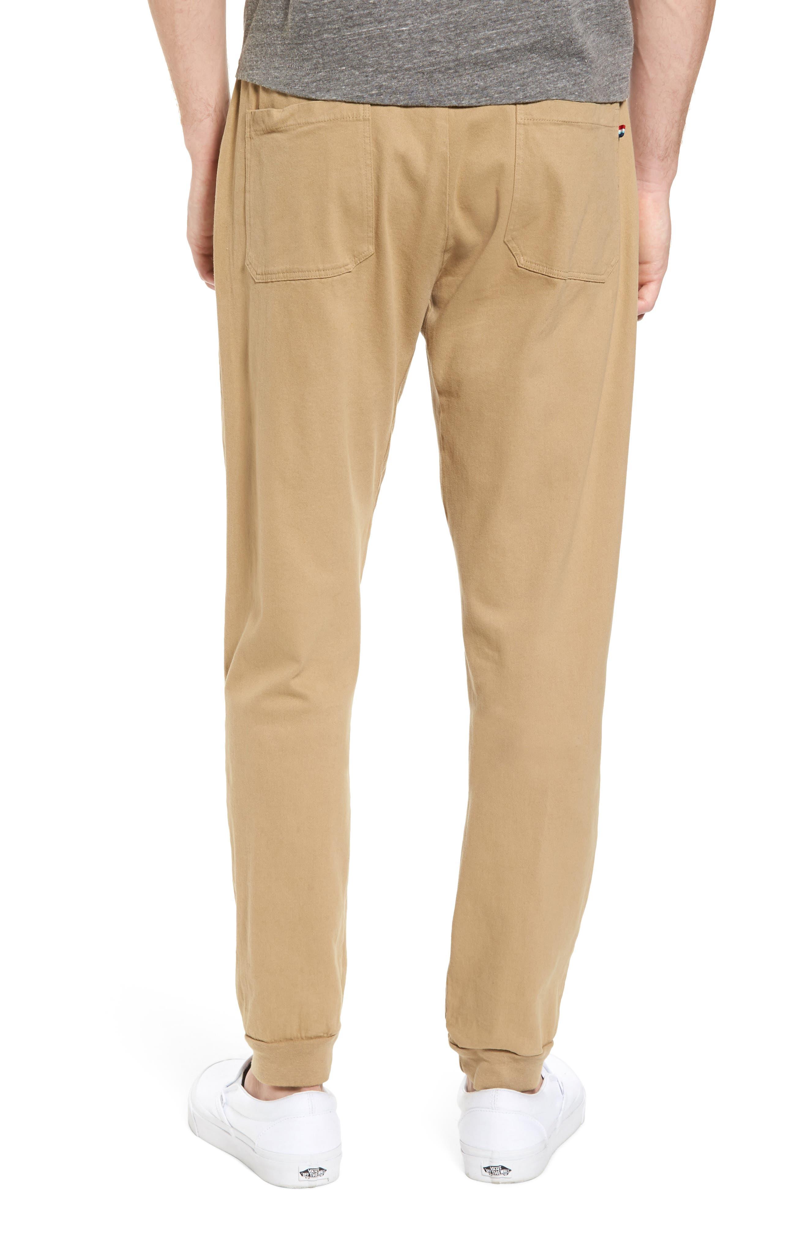 Essential Twill Jogger Pants,                             Alternate thumbnail 2, color,                             Khaki