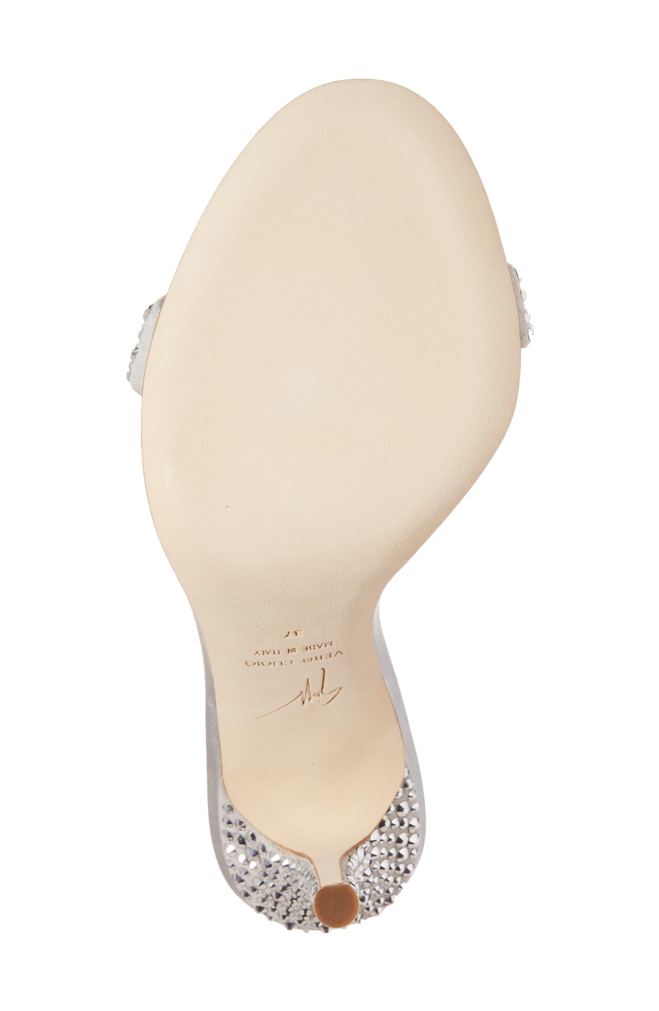 Musitco Crystal Embellished Slingback Sandal,                             Alternate thumbnail 6, color,                             Grey
