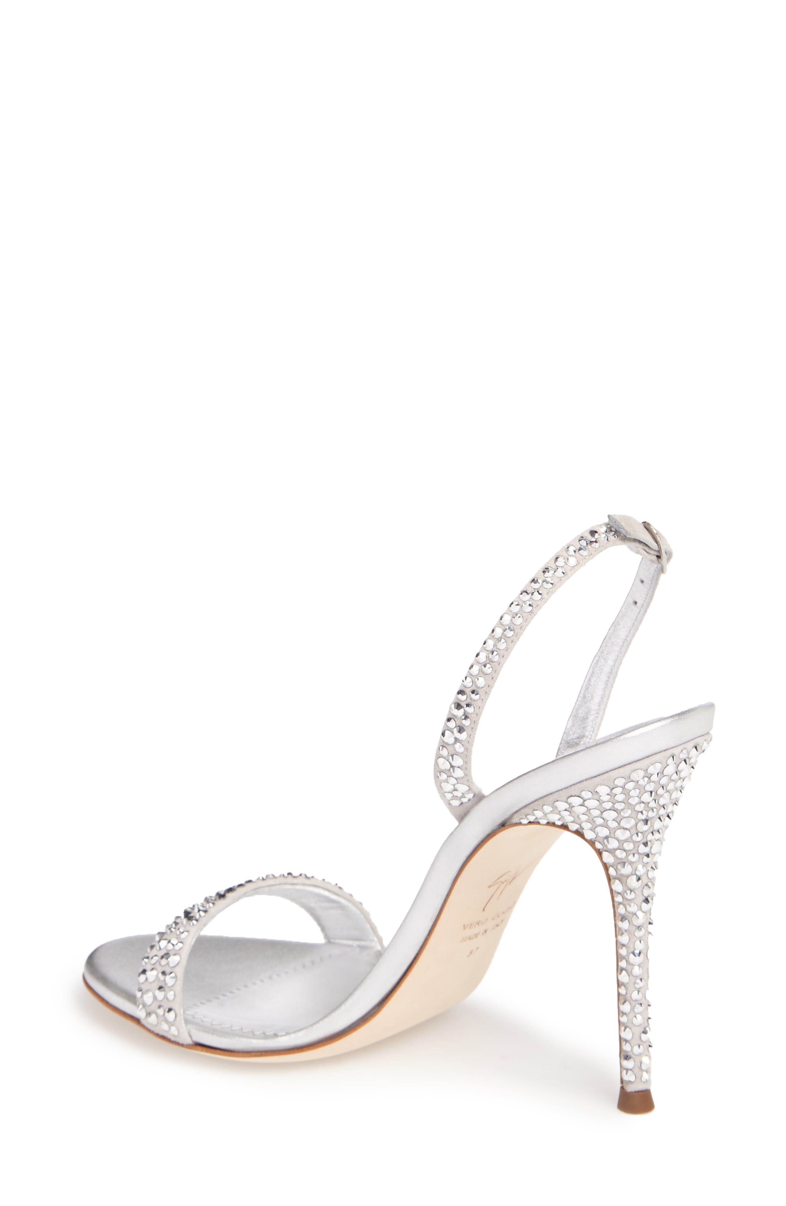 Alternate Image 2  - Giuseppe Zanotti Musitco Crystal Embellished Slingback Sandal (Women)