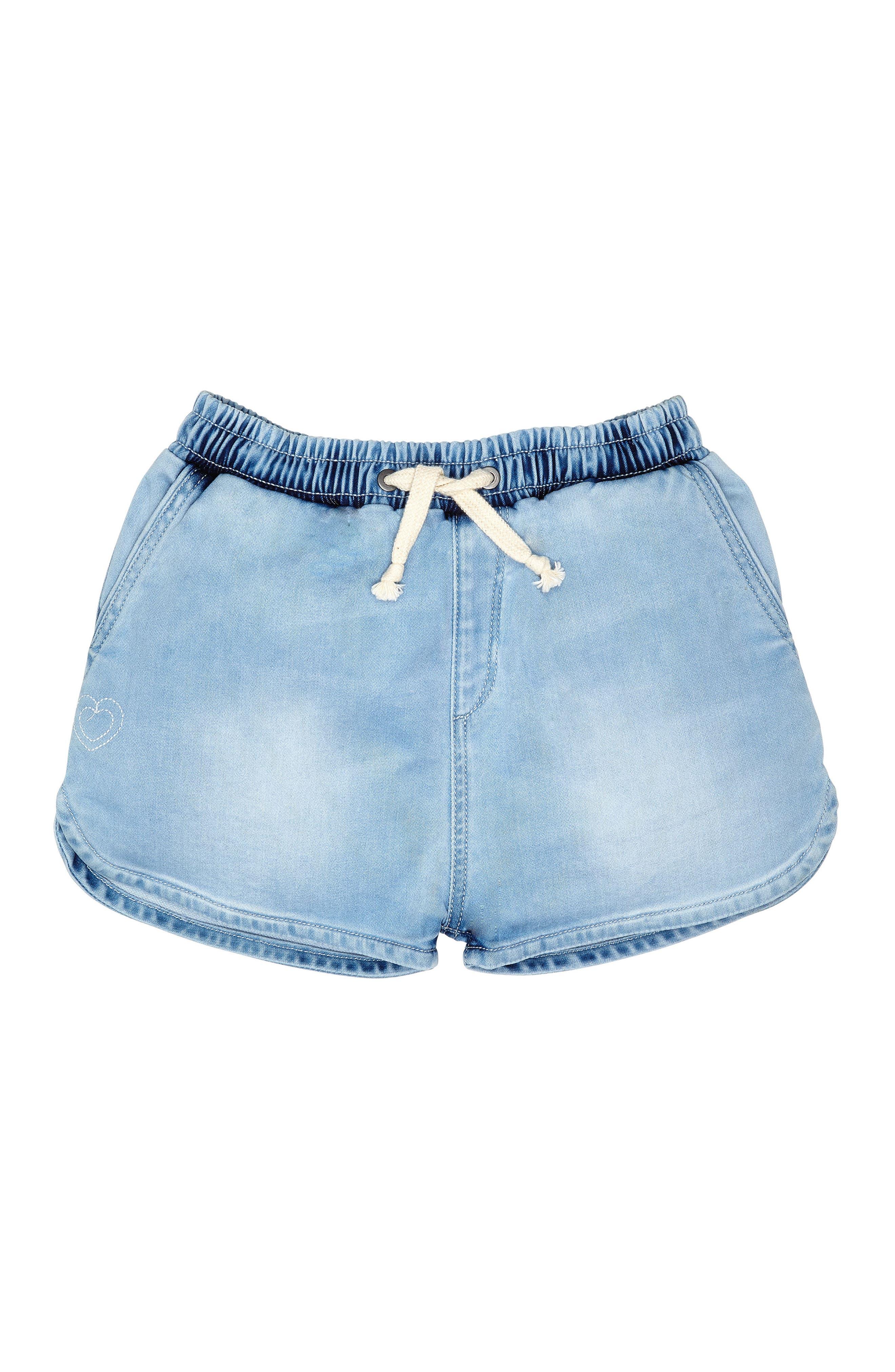 Denim Sport Shorts,                         Main,                         color, Malibu