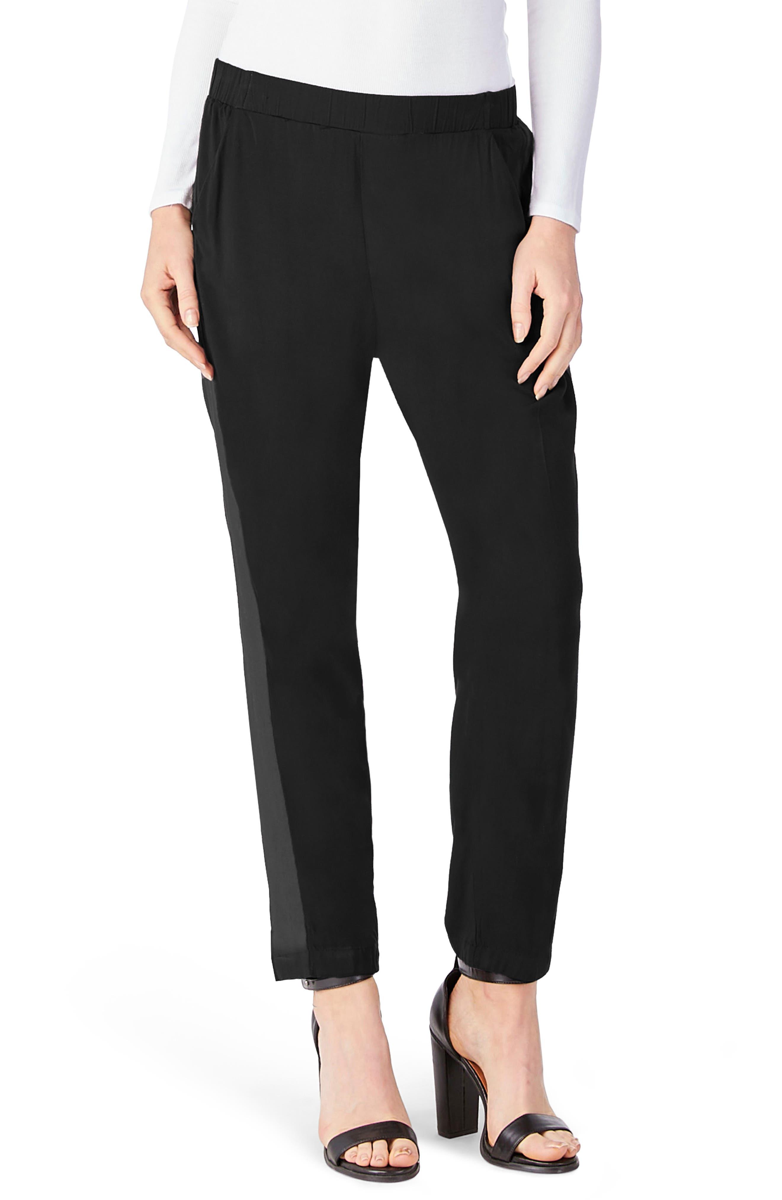 Tuxedo Pants,                         Main,                         color, Black