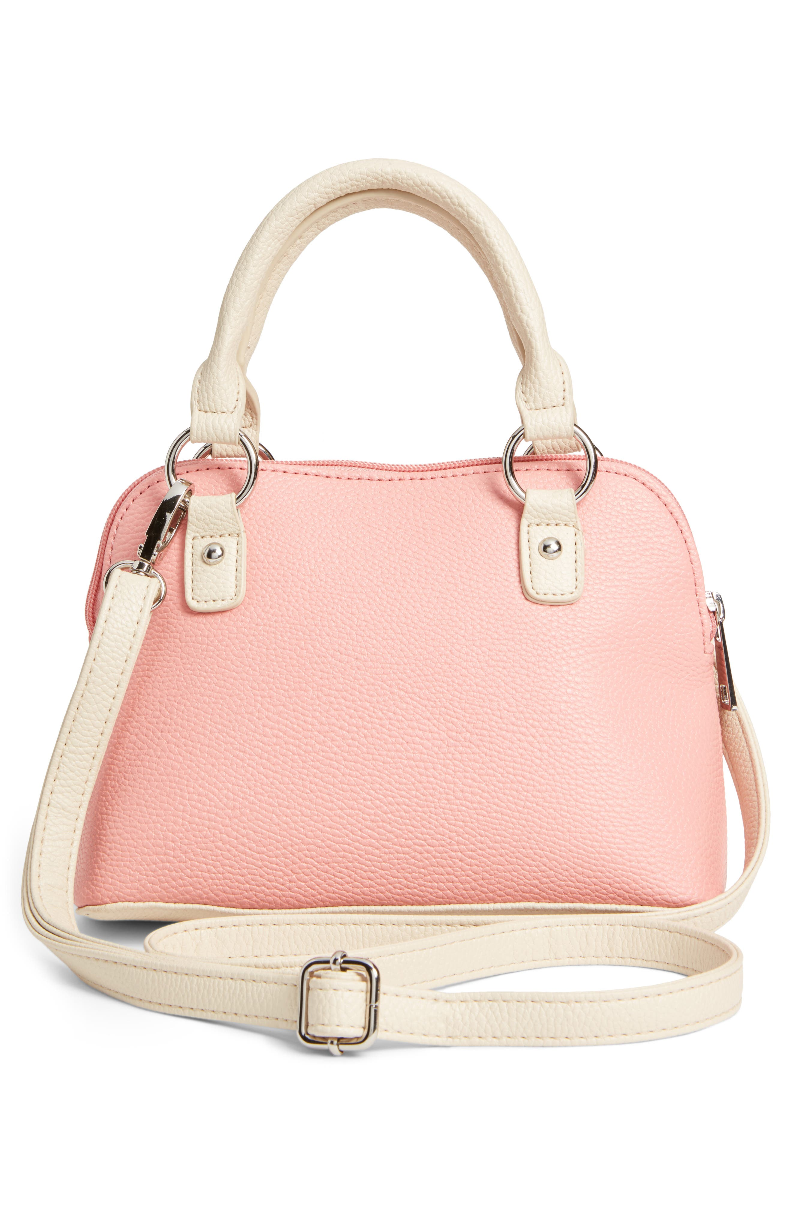 Embroidered Handbag,                             Alternate thumbnail 2, color,                             Pink
