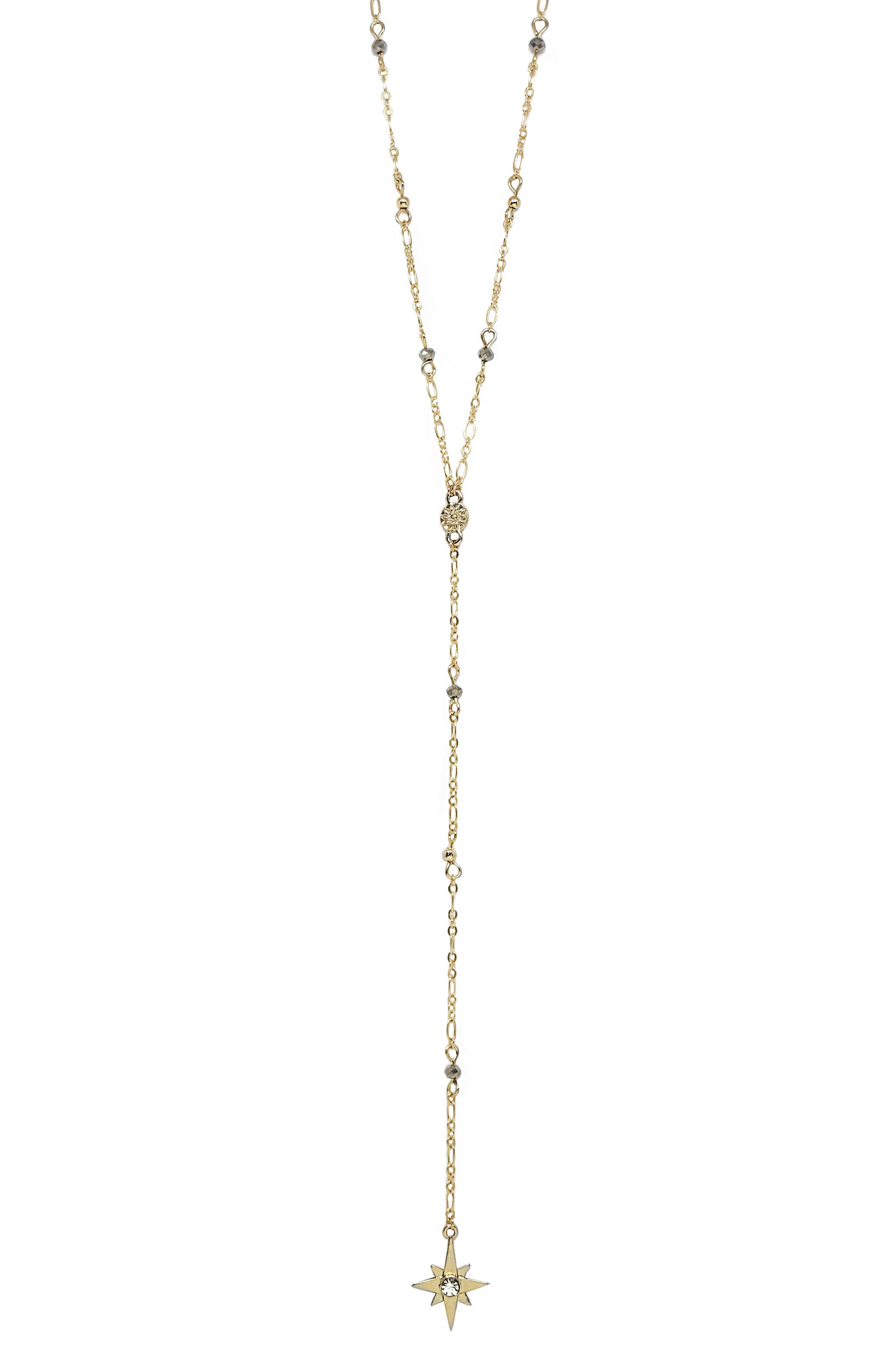 Chain Lariat Necklace,                         Main,                         color, Gold