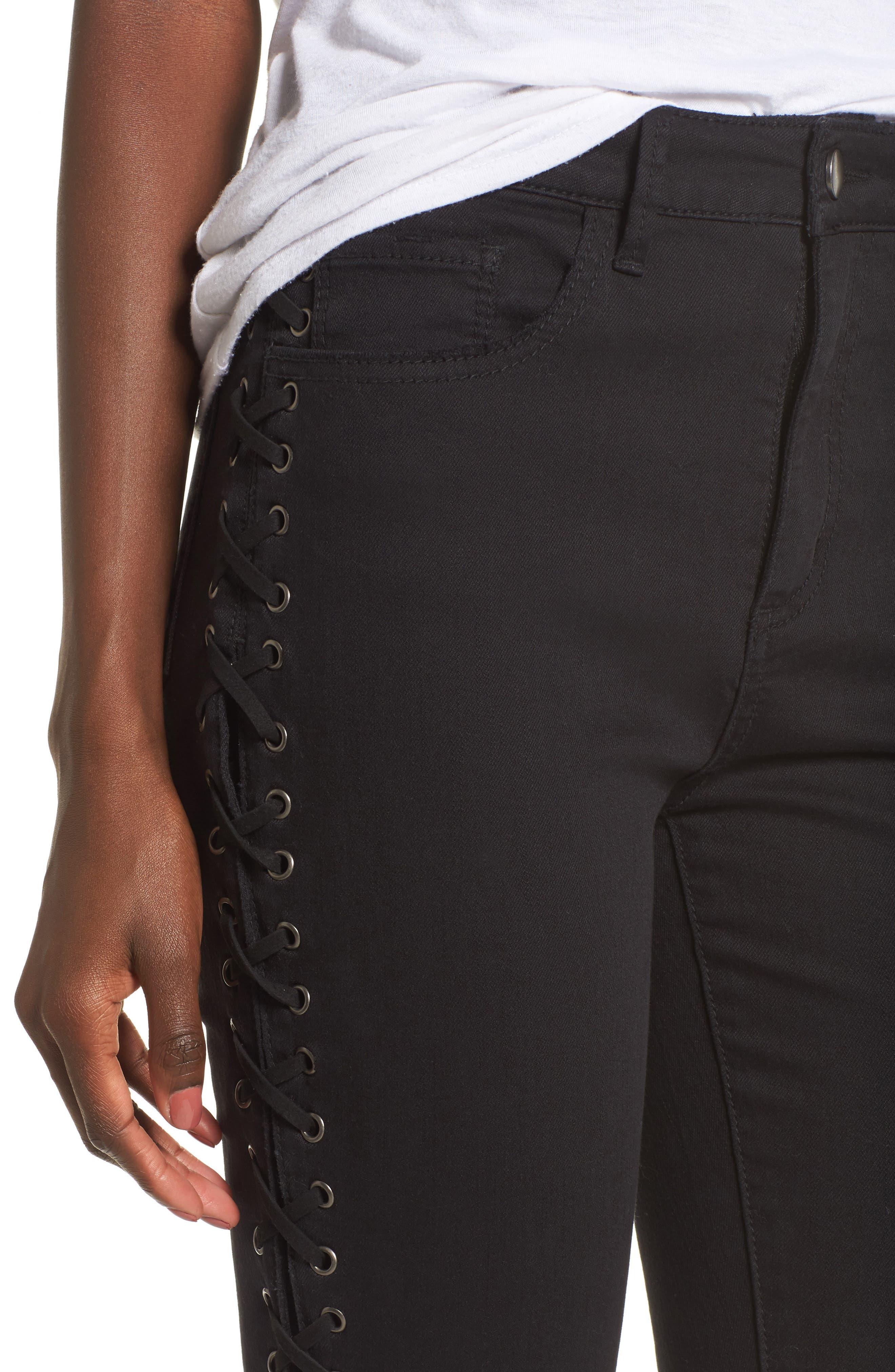 Alternate Image 4  - AFRM Lace-Up Skinny Jeans