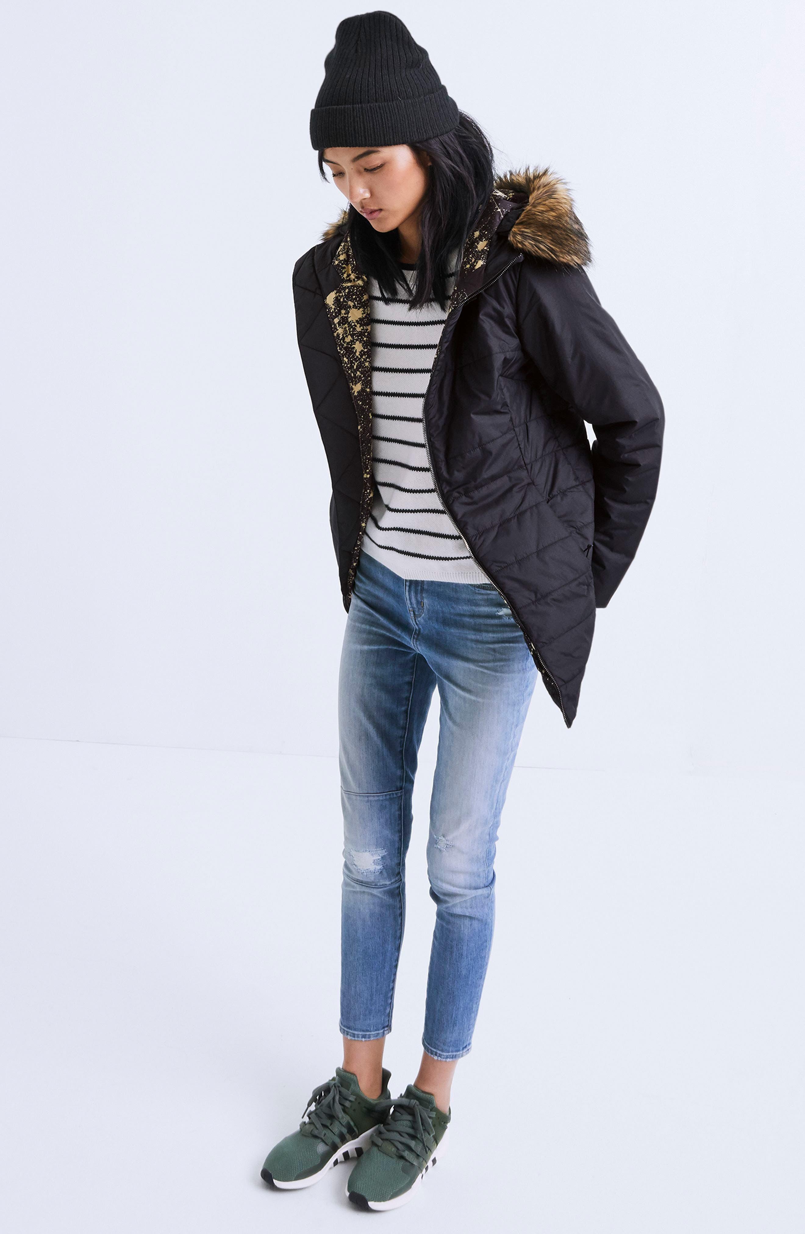Harway Heatseeker<sup>™</sup> Water-Resistant Jacket with Faux Fur Trim,                             Alternate thumbnail 7, color,