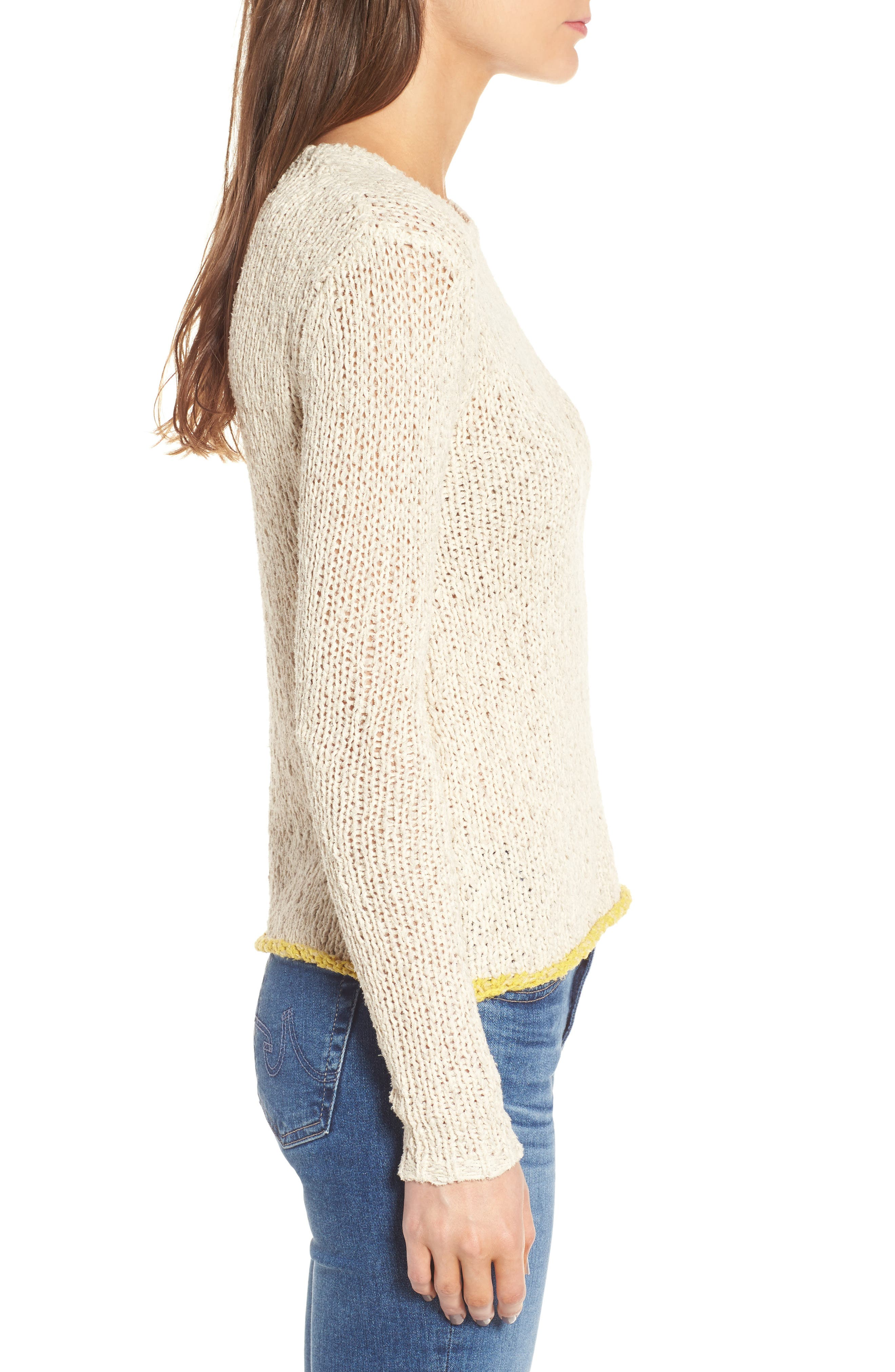 Open Stitch Sweater,                             Alternate thumbnail 3, color,                             Vintage