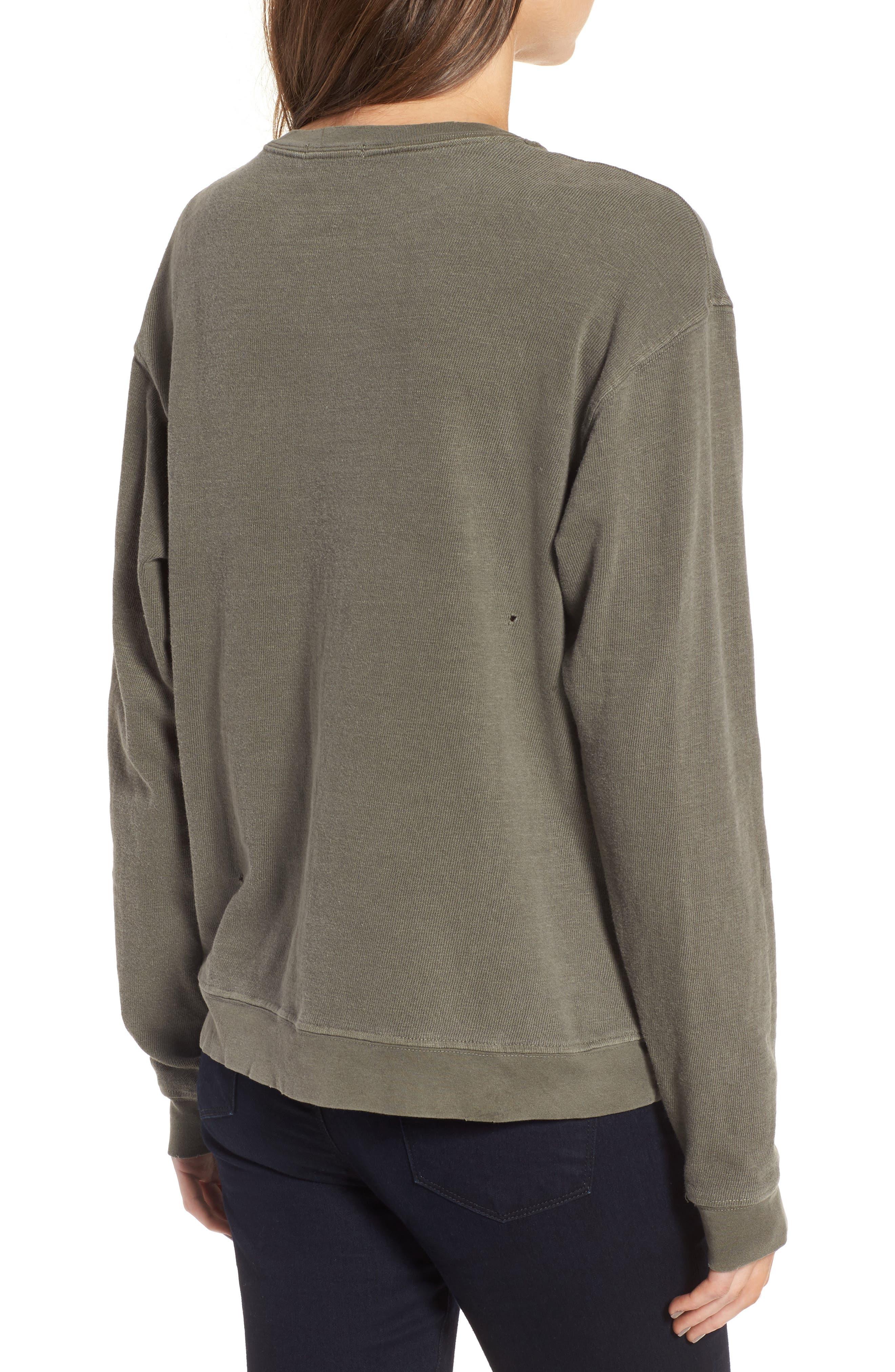 Alternate Image 2  - James Perse Distressed Sweatshirt