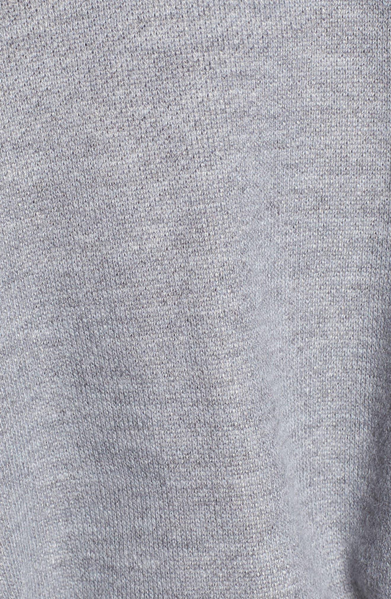 Mason Corset Sweatshirt,                             Alternate thumbnail 5, color,                             Heather Grey