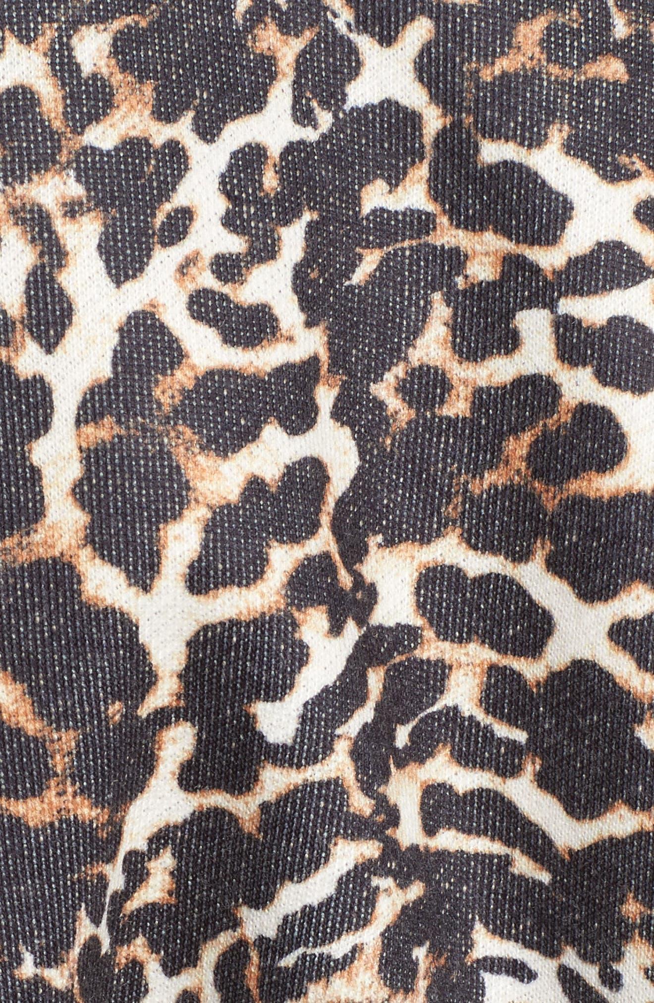 Mason Corset Sweatshirt,                             Alternate thumbnail 5, color,                             Leopard