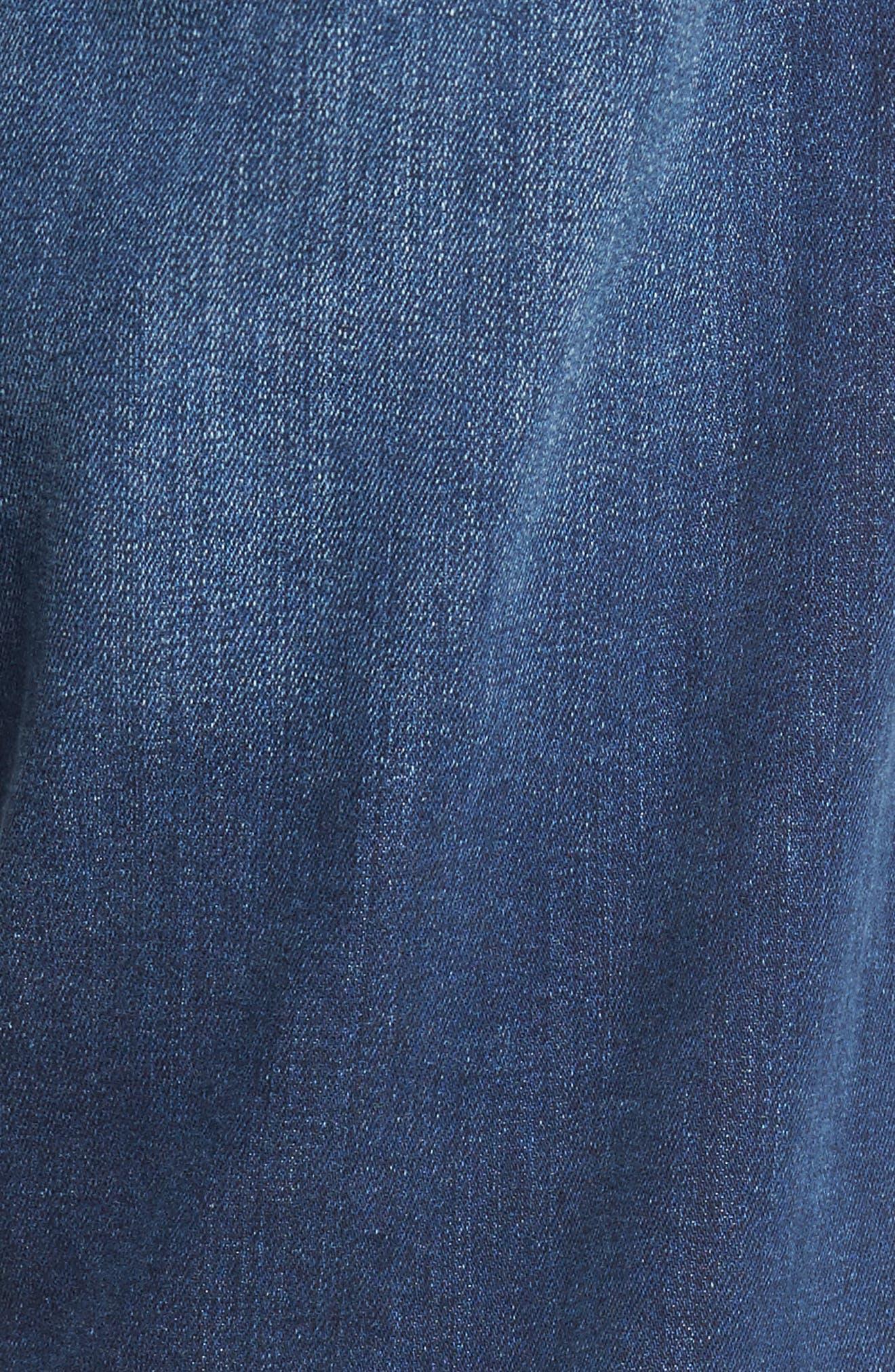 Alternate Image 5  - Mavi Jeans Myles Straight Fit Jeans (Dark Used Williamsburg)