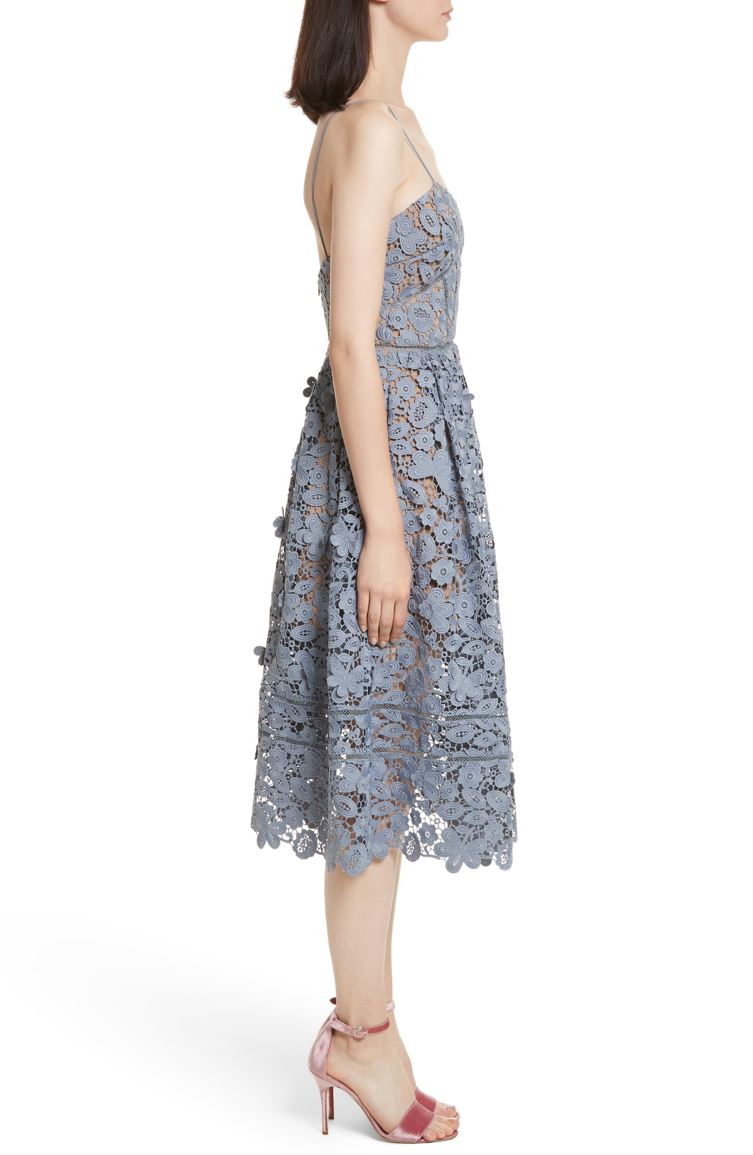 Alternate Image 3  - Self-Portrait Azaelea 3D Lace Fit & Flare Dress