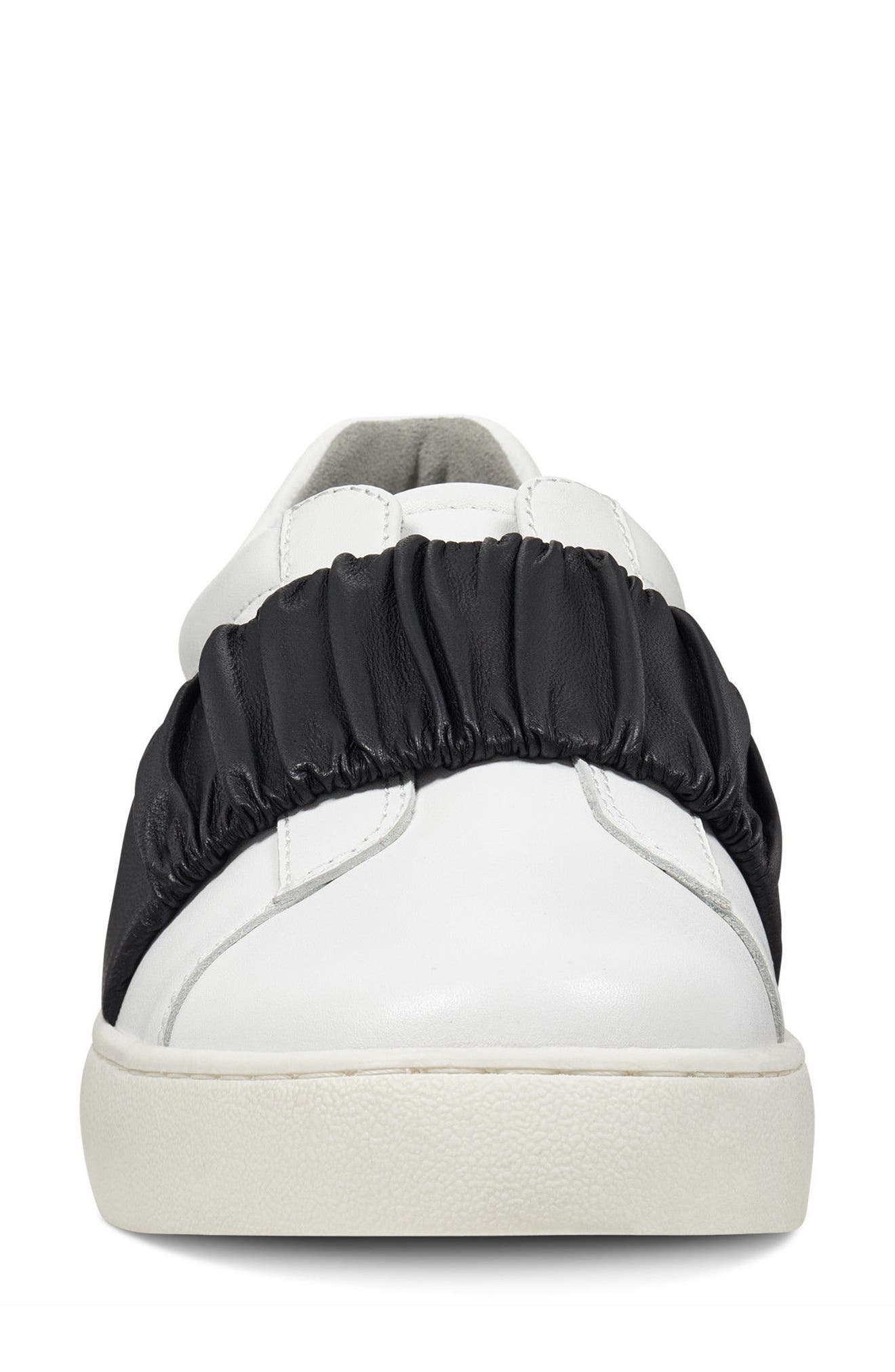 Pindiviah Slip-On Sneaker,                             Alternate thumbnail 4, color,                             White/ Black Leather