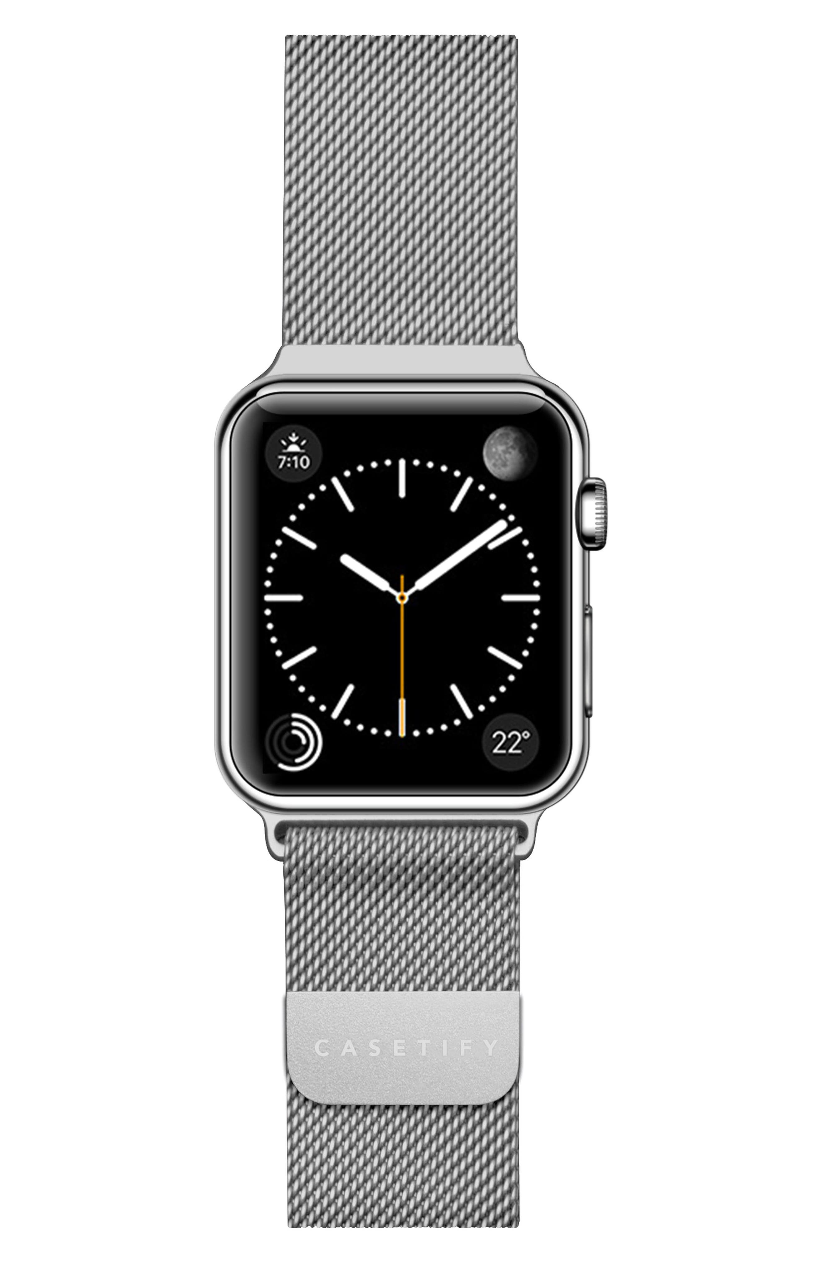 Mesh Apple Watch Strap, 38mm,                         Main,                         color, Silver