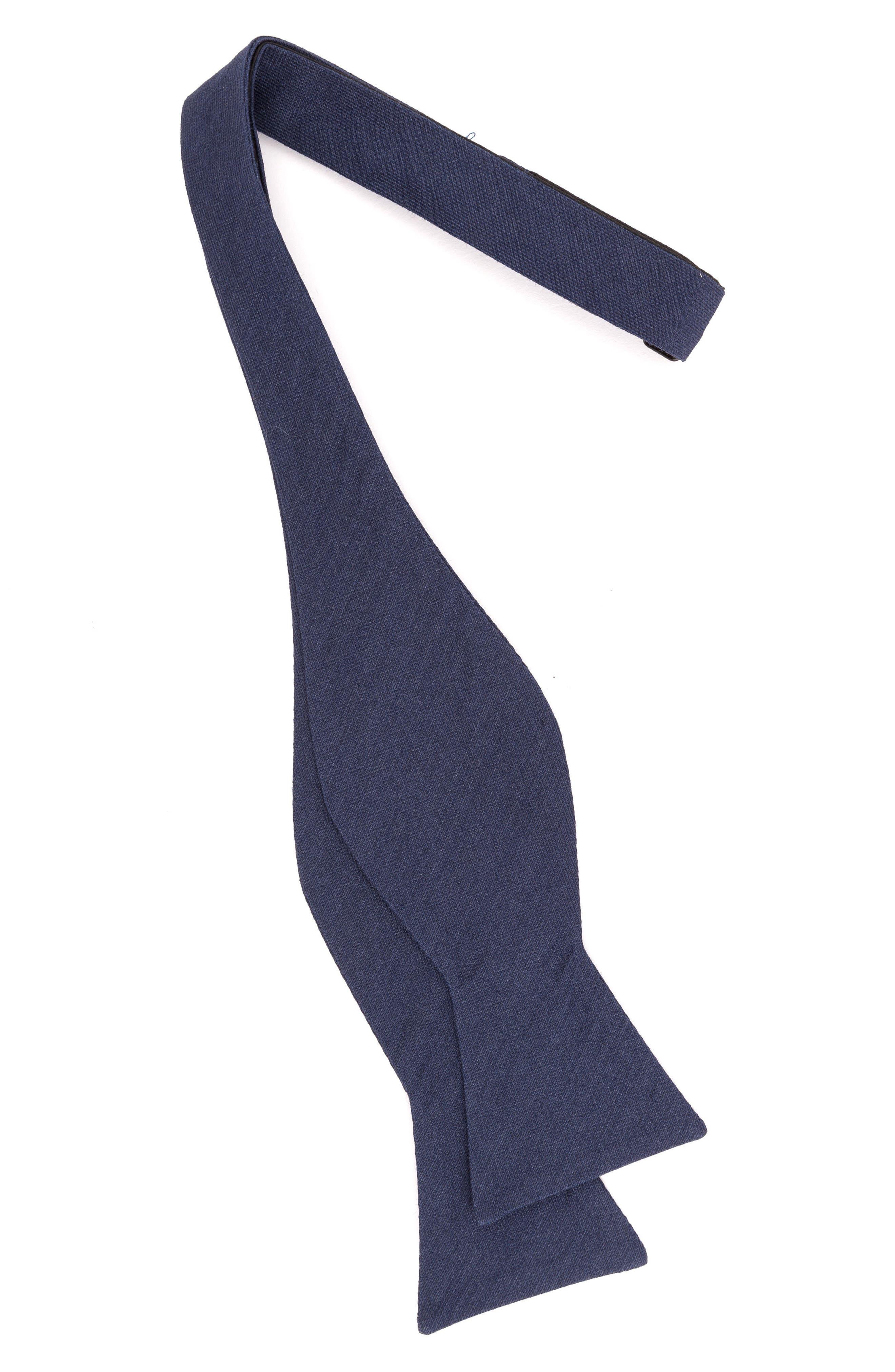 Indigo Wardrobe Silk Bow Tie,                             Alternate thumbnail 2, color,                             Indigo