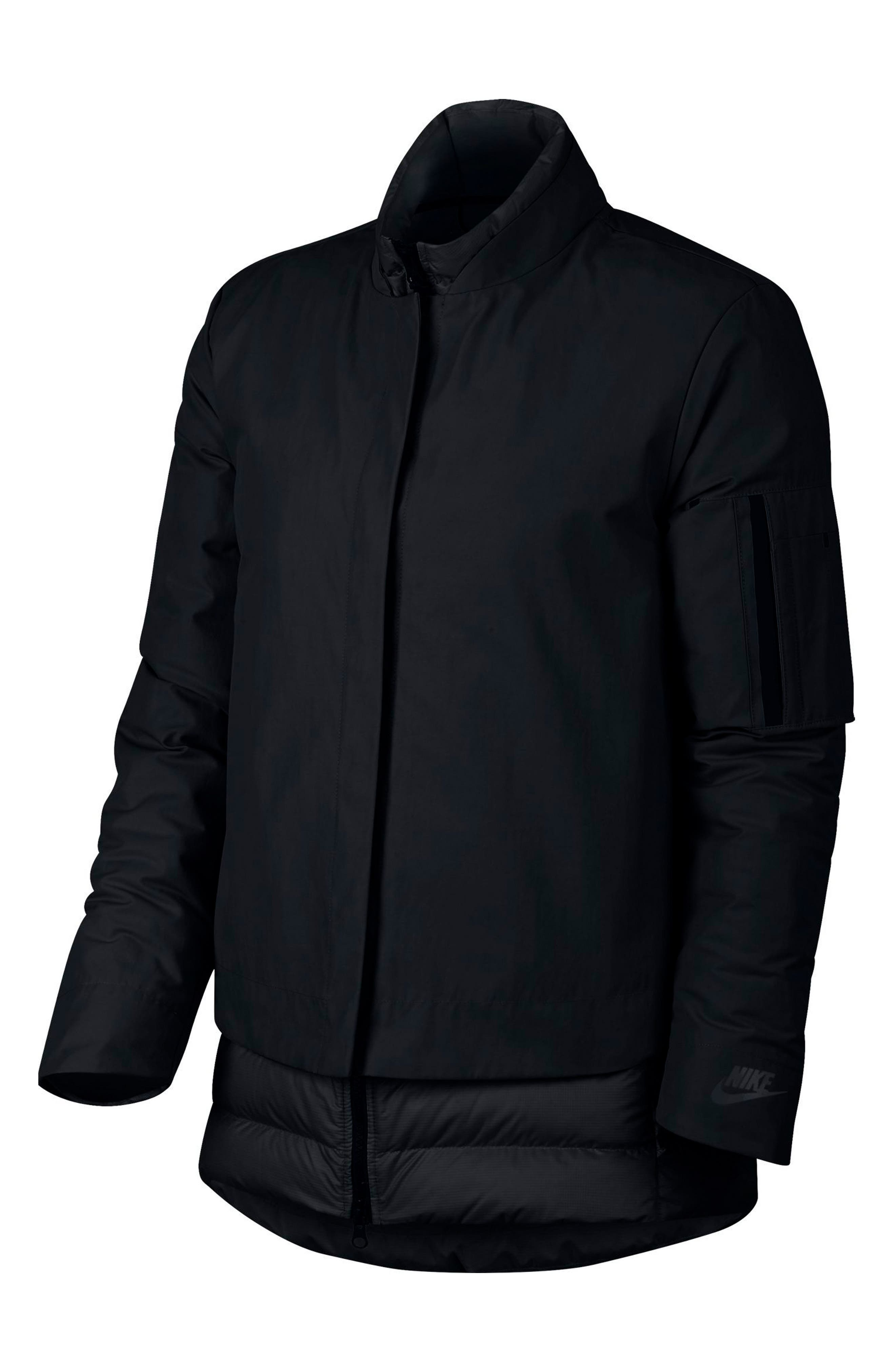 Sportswear AeroLoft 3-in-1 Down Jacket,                             Alternate thumbnail 11, color,                             Black/ Black/ Black