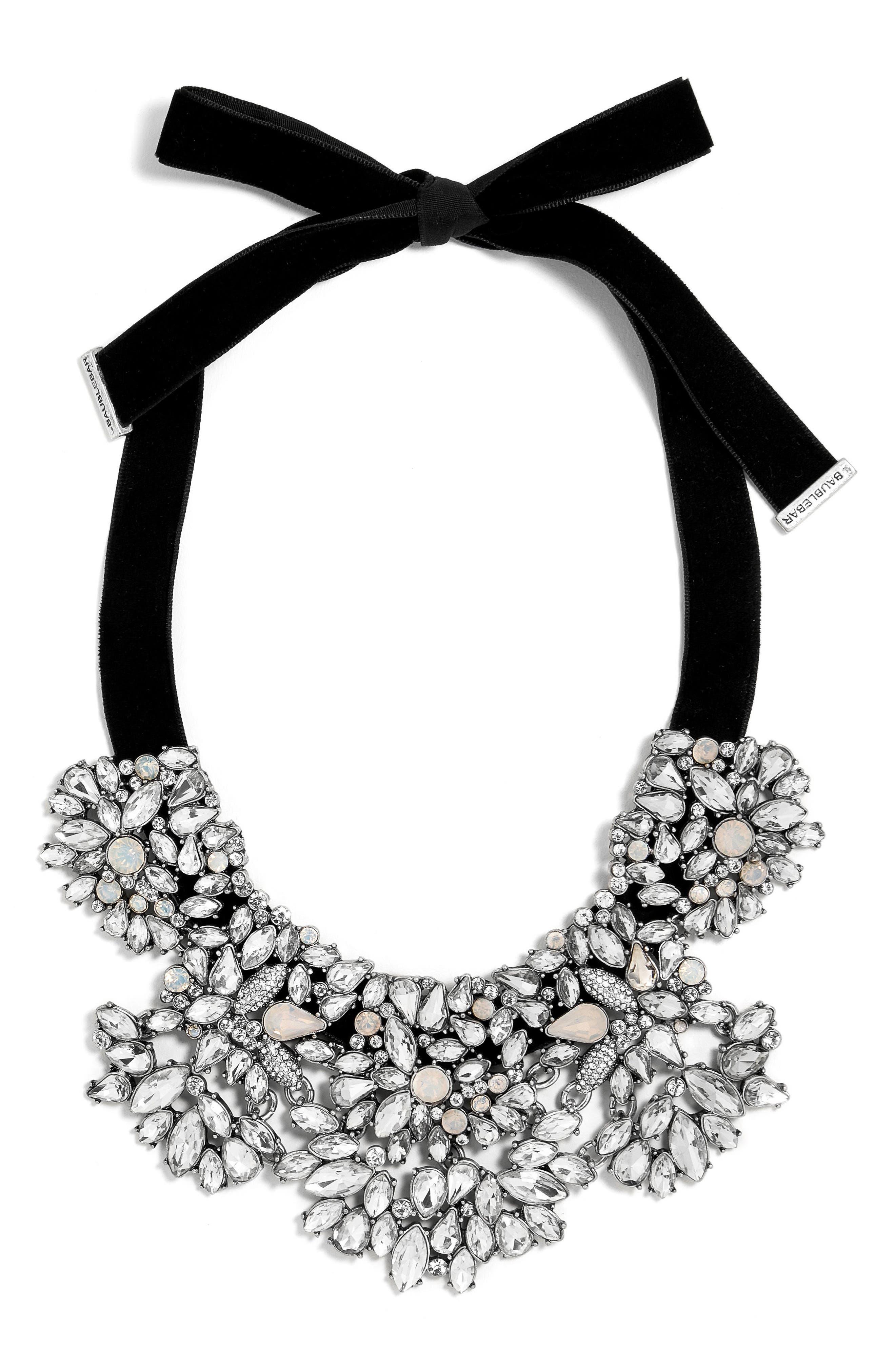 Crystal Shatter Statement Necklace,                         Main,                         color, Black