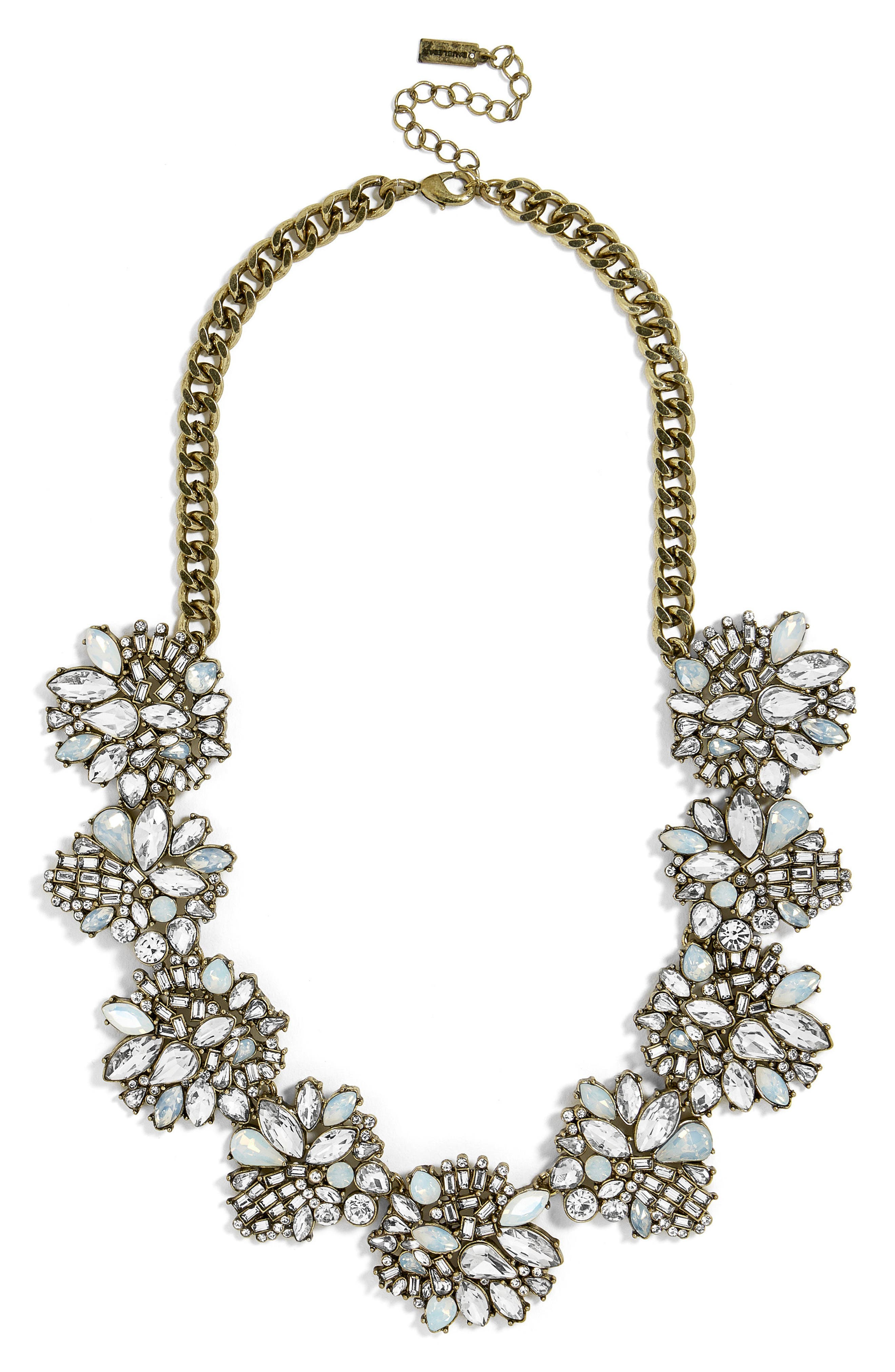 Lissandra Crystal Statement Necklace,                             Main thumbnail 1, color,                             Opal