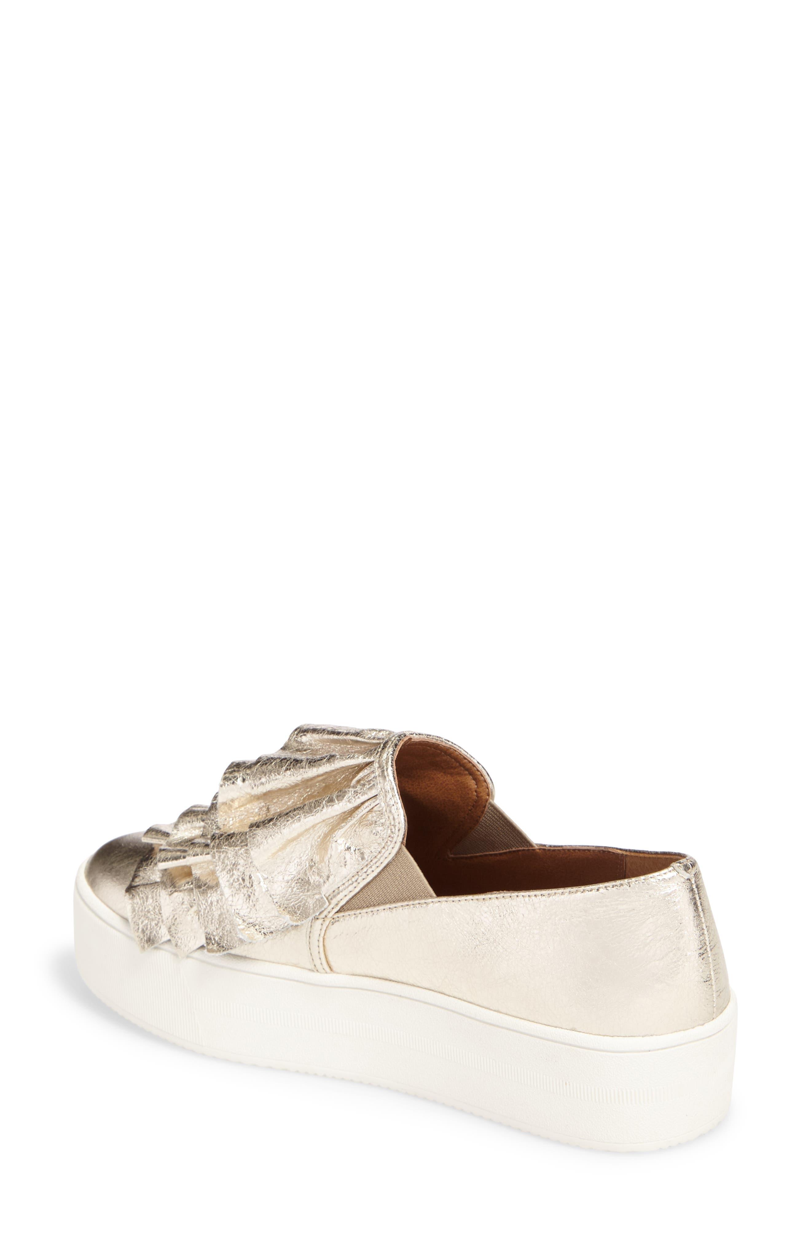 Marian Platform Sneaker,                             Alternate thumbnail 2, color,                             Gold Leather