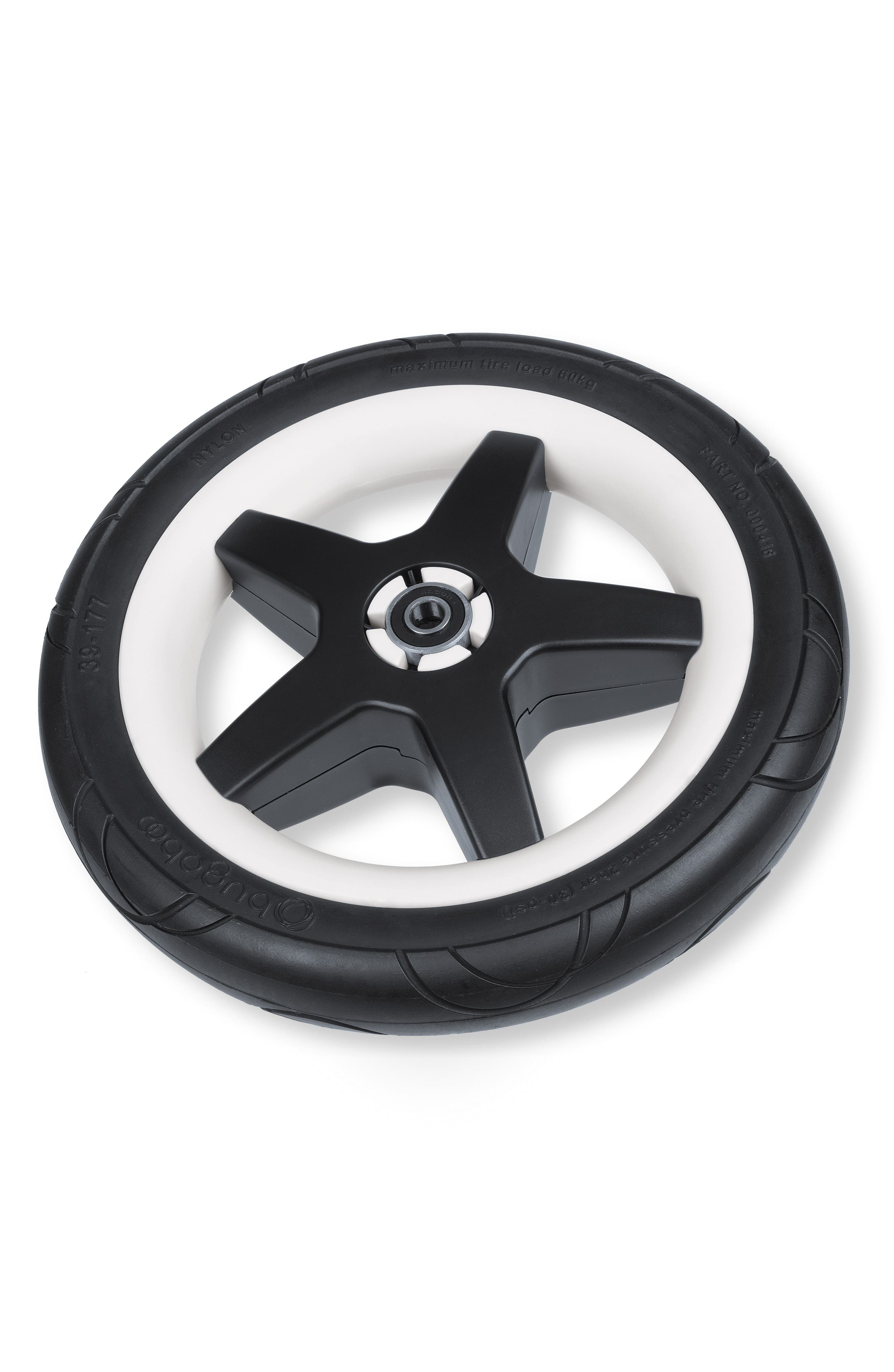 4-Piece Foam Wheel Set for Donkey Series Strollers,                             Alternate thumbnail 2, color,                             Black