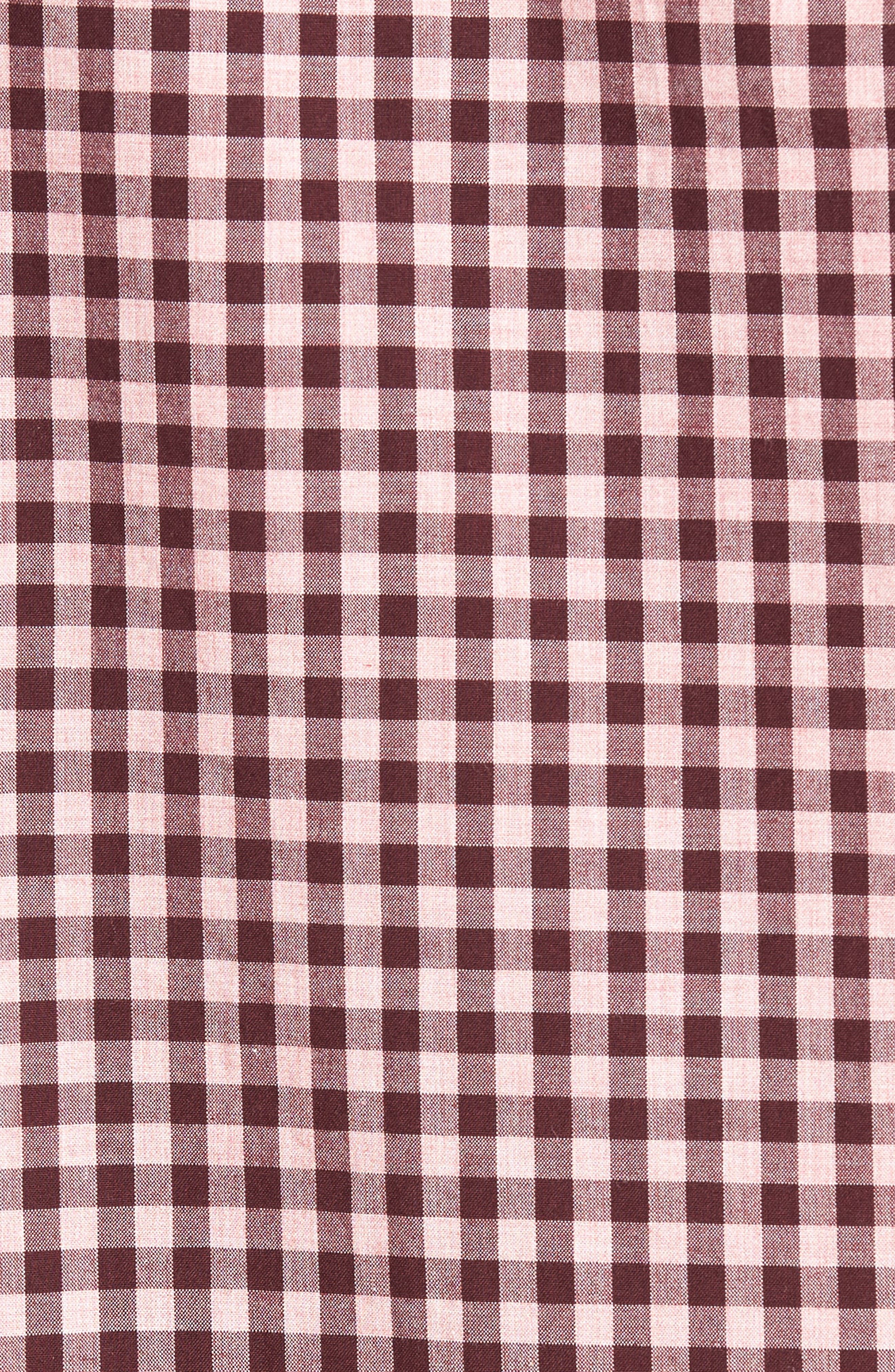 Slim Fit Washed Ombré Check Sport Shirt,                             Alternate thumbnail 5, color,                             Heather Pink Gingham