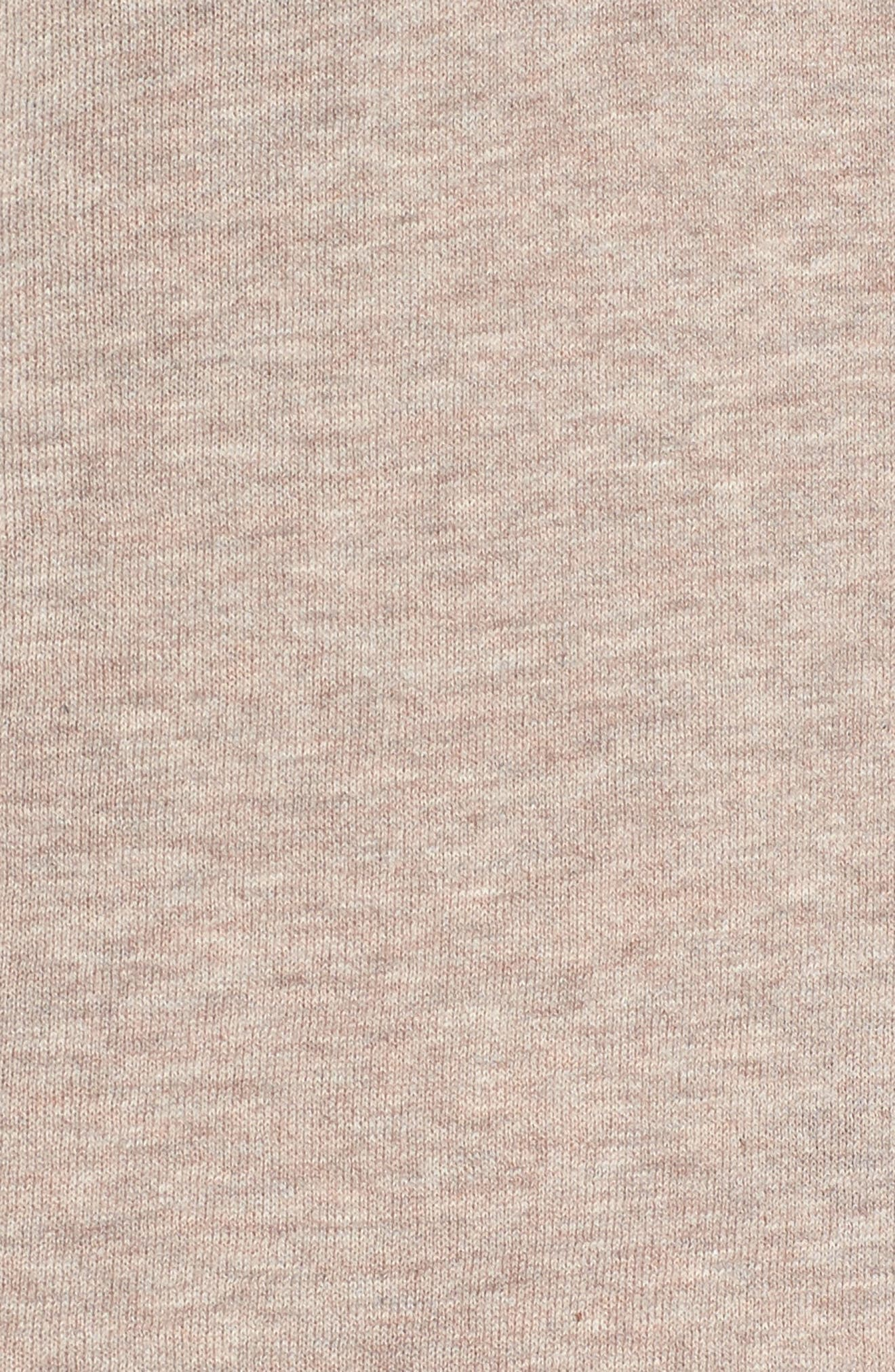 Henley Tank Sweater,                             Alternate thumbnail 5, color,                             Heather Taupe