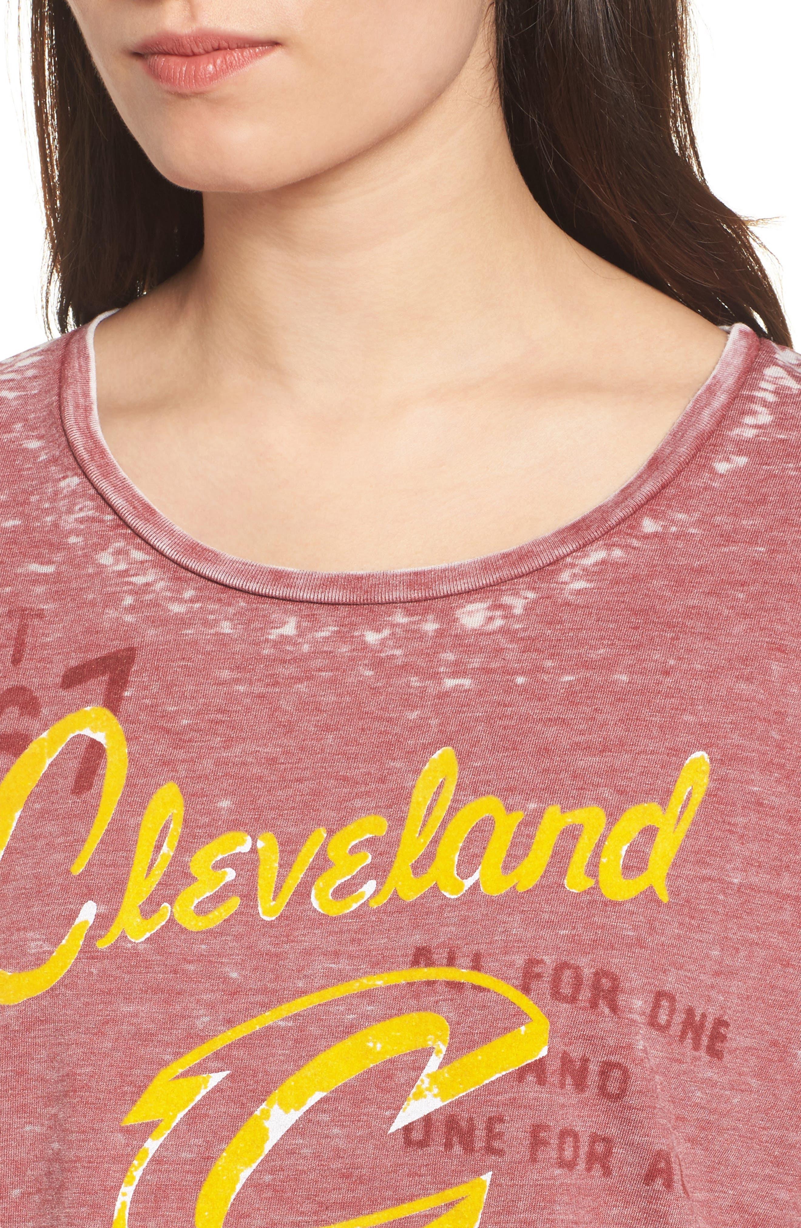 NBA Cleveland Cavaliers Tee,                             Alternate thumbnail 4, color,                             Crimson
